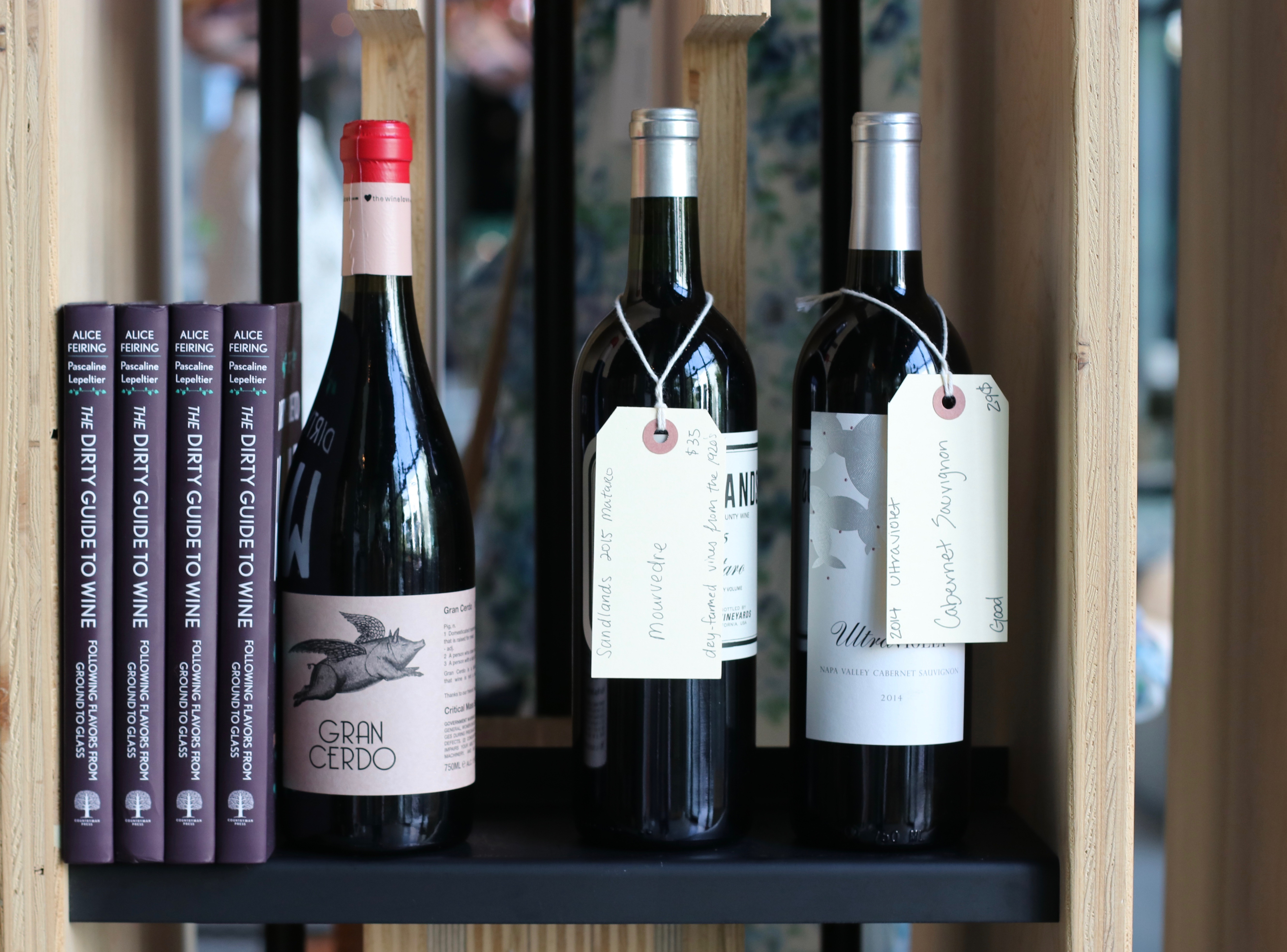 Wine bottles at Hayden, Culver City.