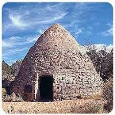 A conical charcoal kiln in Old Iron Town, about 20 miles west of Cedar City.