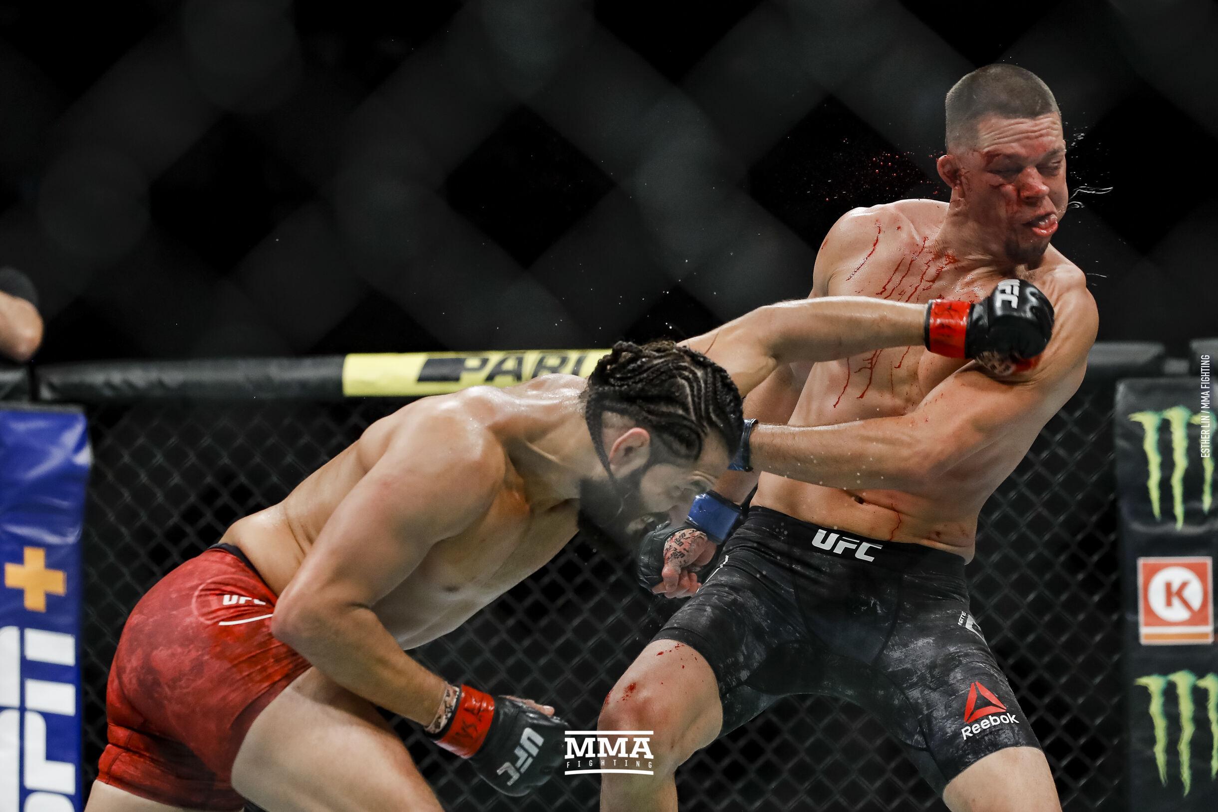 Jorge Masvidal Punches Nate Diaz
