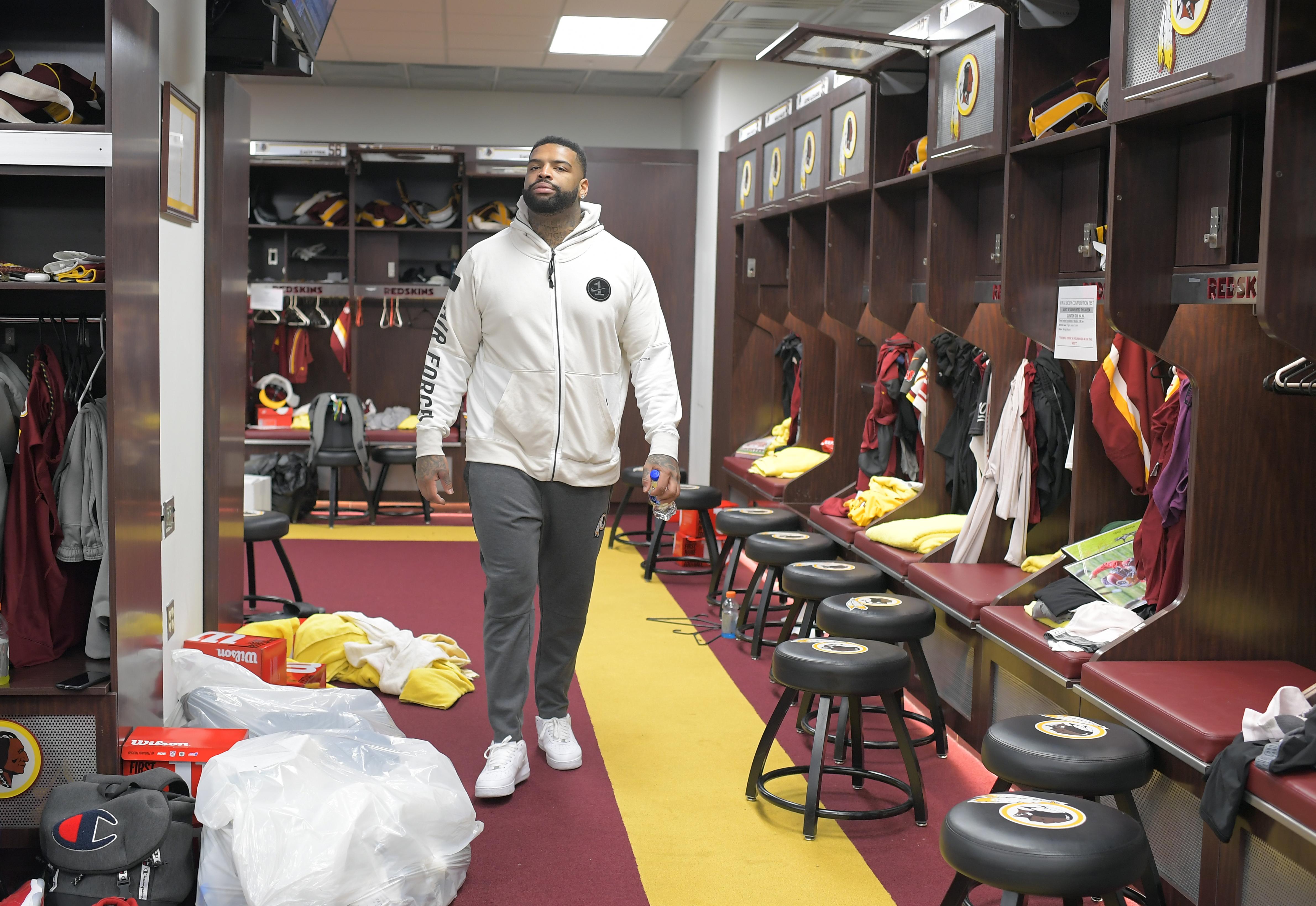 Washington Redskins clean lockers