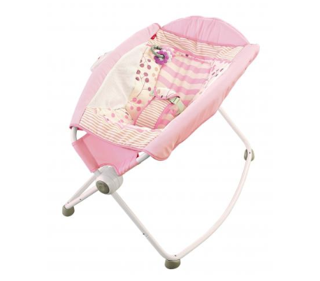 An image of a pink Fisher-Price Rock 'n Play sleeper. About 4.7 million were recalled by the CPSC earlier this year.