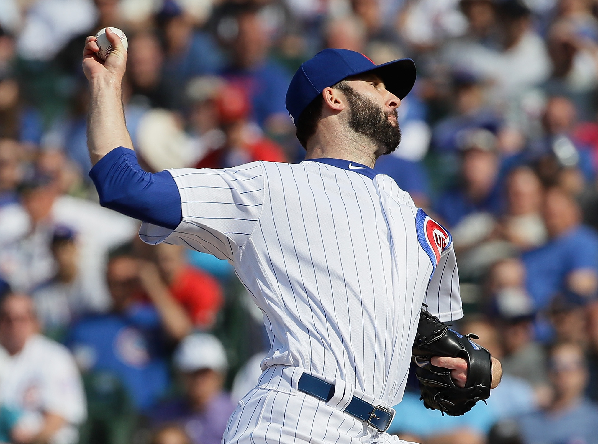 Brandon Morrow earning one of his 22 saves for the Cubs in 2018.