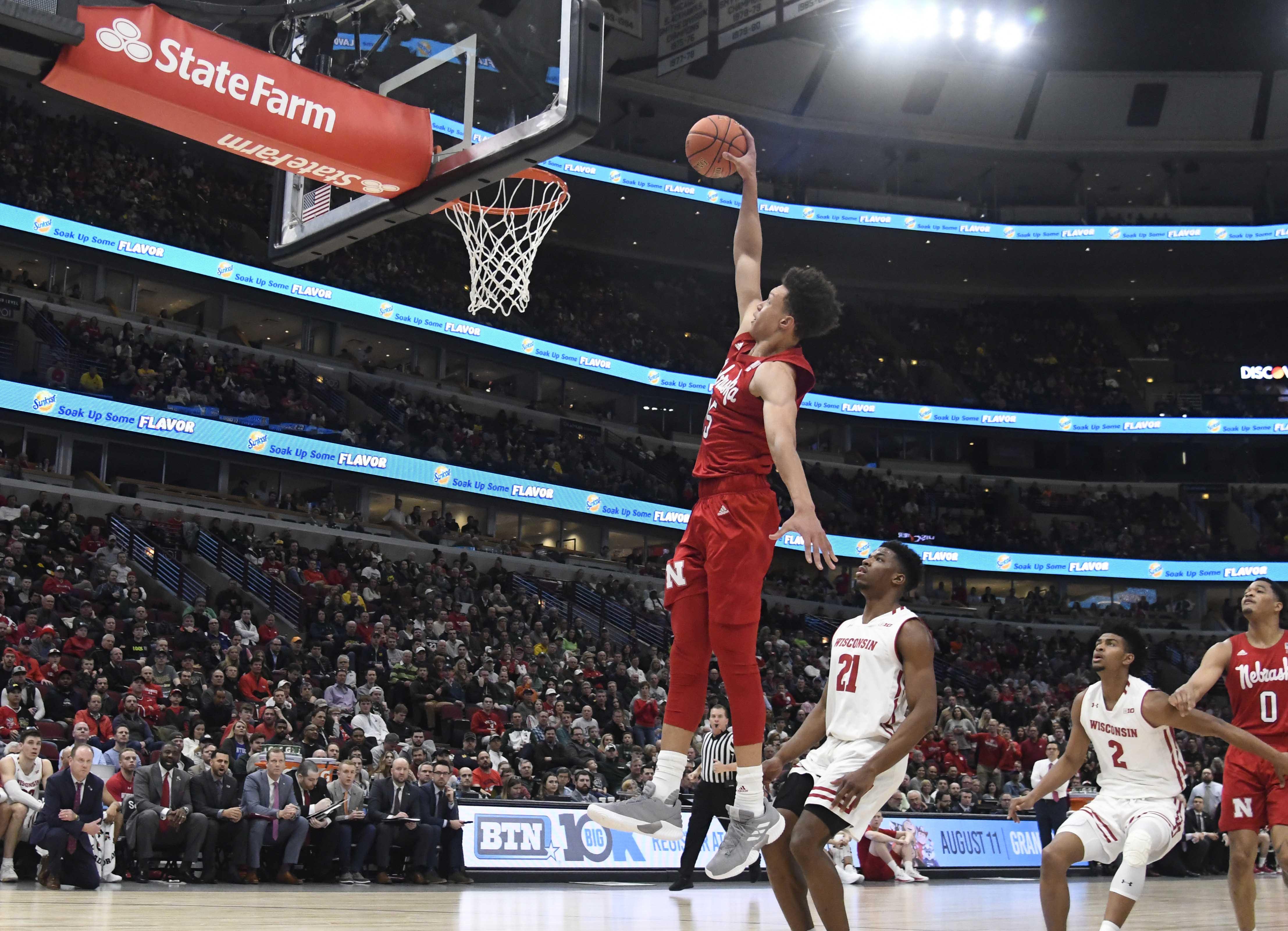 NCAA Basketball: Big Ten Conference Tournament-Wisconsin vs Nebraska