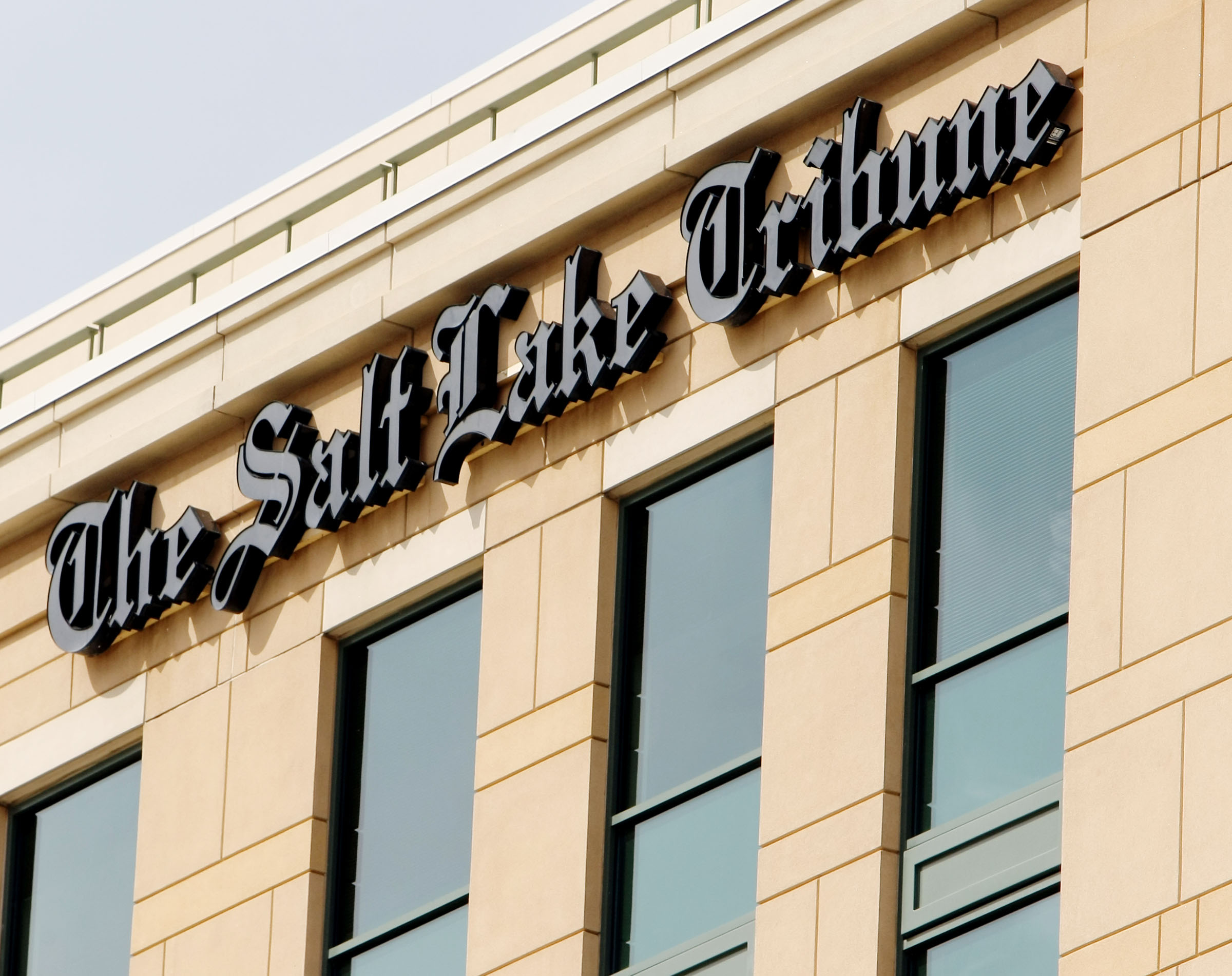 The Salt Lake Tribune's office is pictured on Wednesday, May 8, 2019. The paper announced on Monday, Nov. 4, 2019, that it was granted nonprofit status by the IRS.