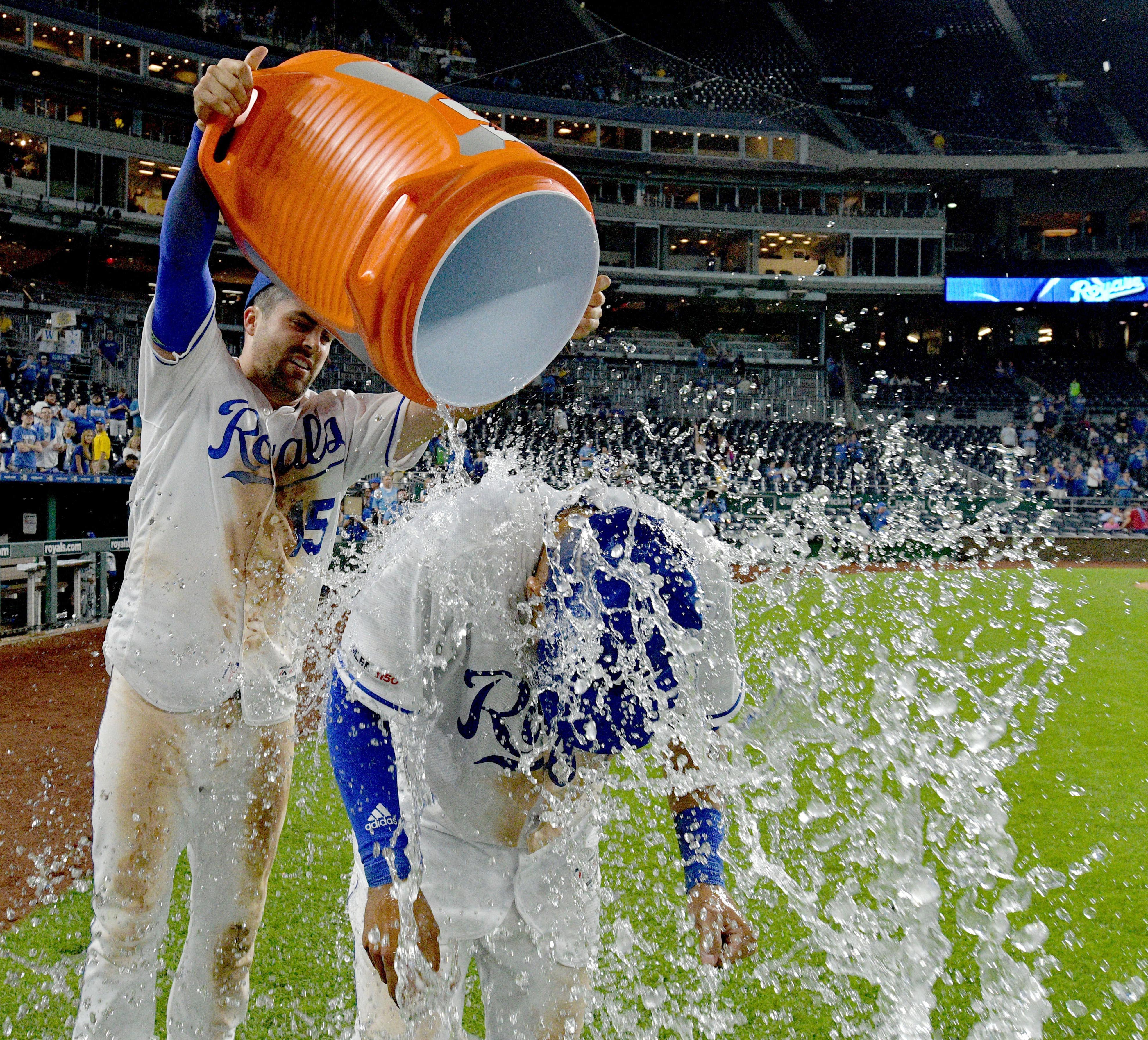 MLB: Texas Rangers at Kansas City Royals