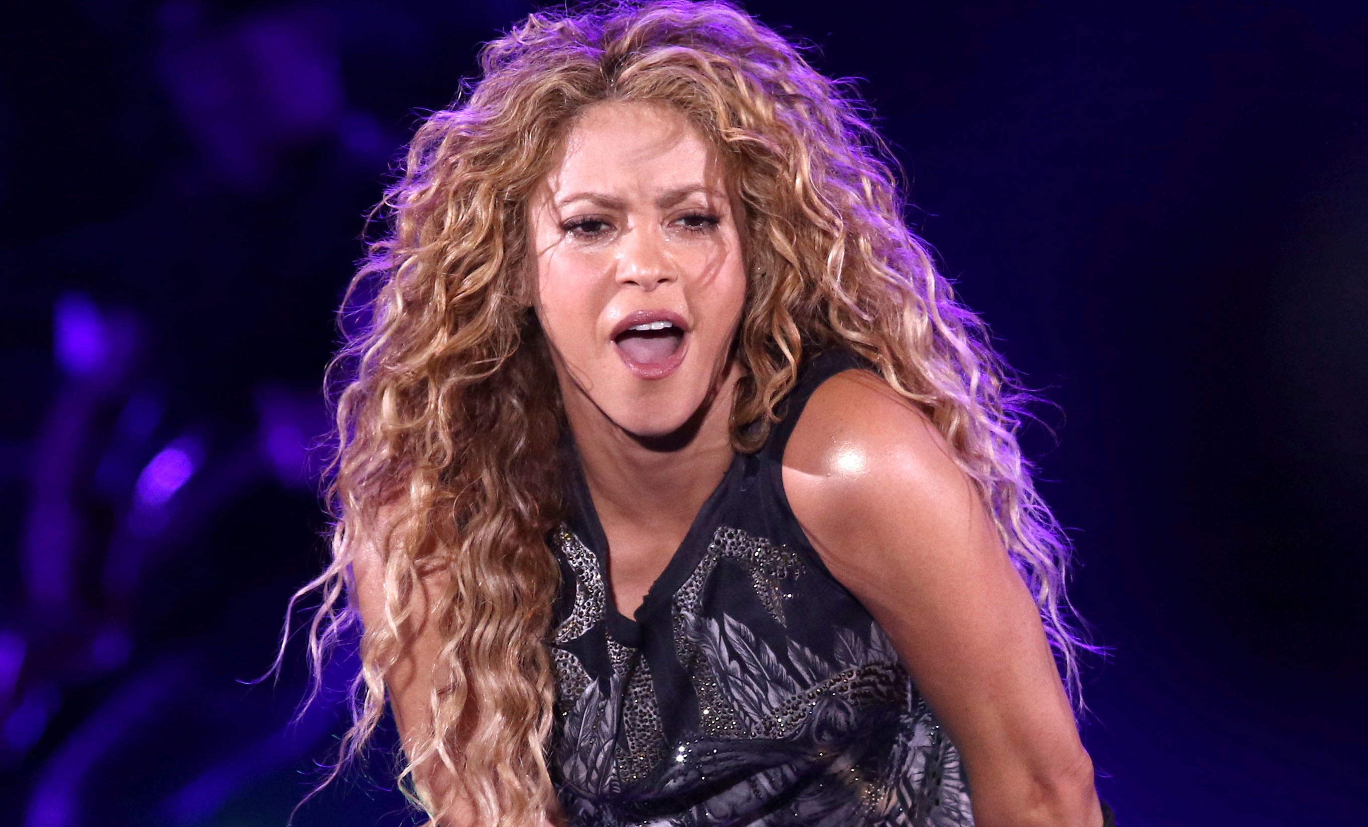 Shakira performs in concert at Madison Square Garden in New York in 2018.