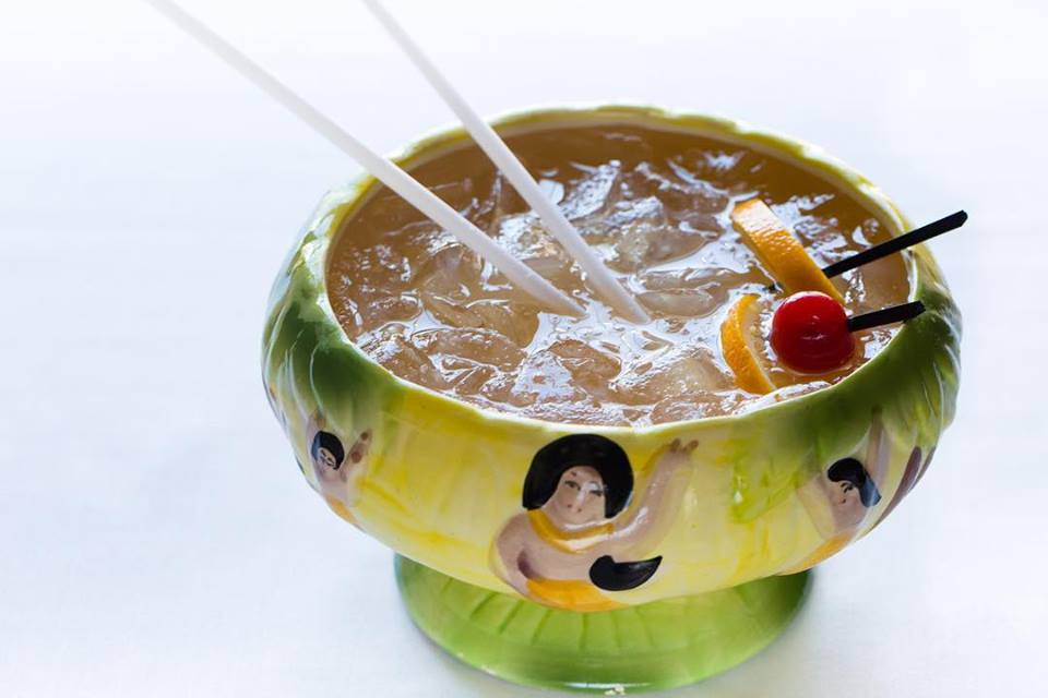 A scorpion bowl at Golden Temple in Brookline
