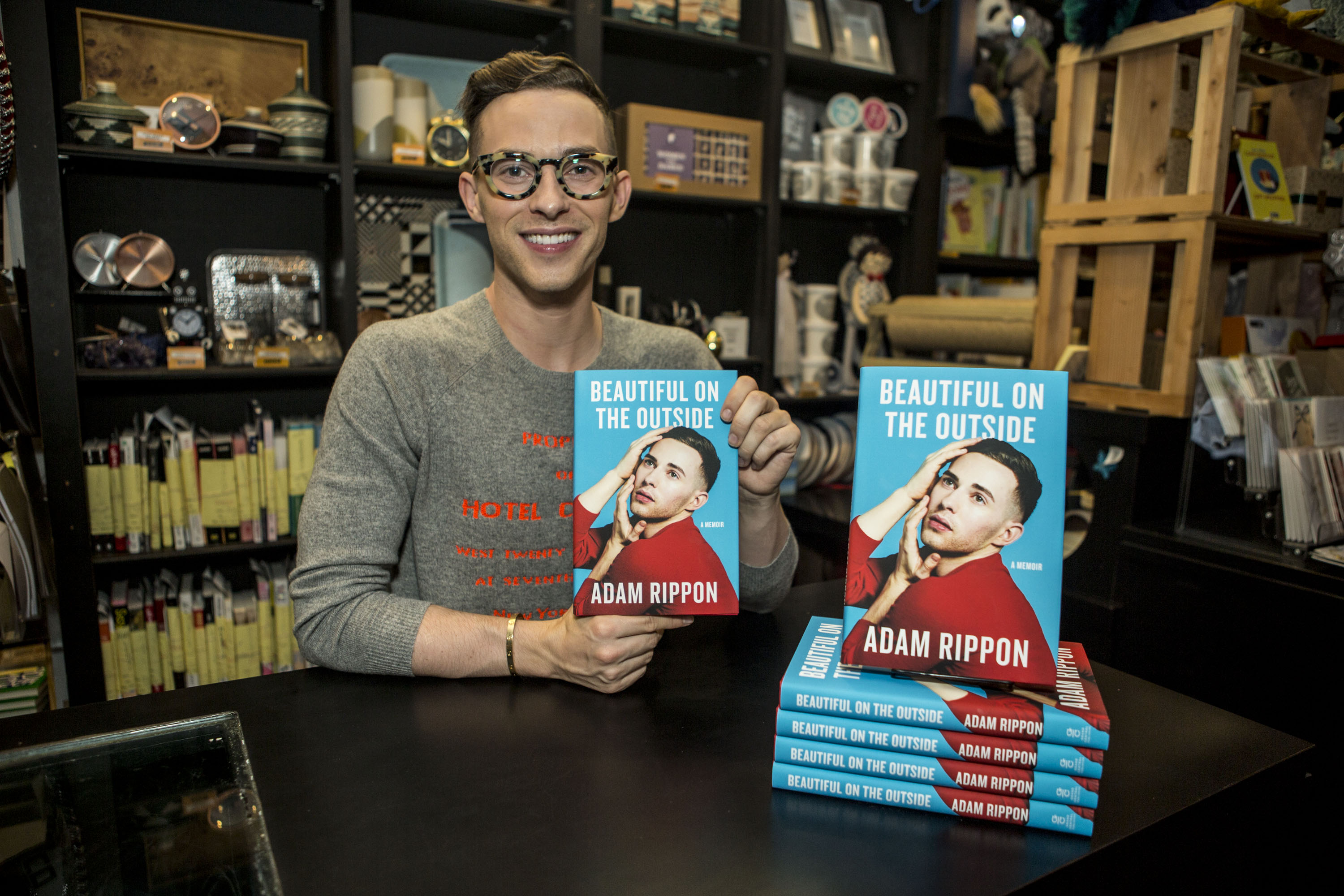 """Adam Rippon Celebrating New Book """"Beautiful On The Outside"""""""
