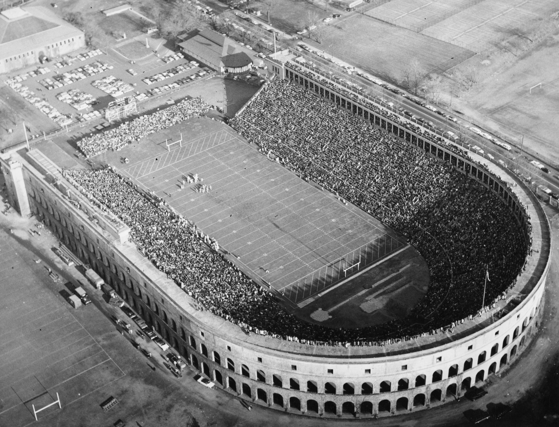 Aerial View Of Harvard Stadium