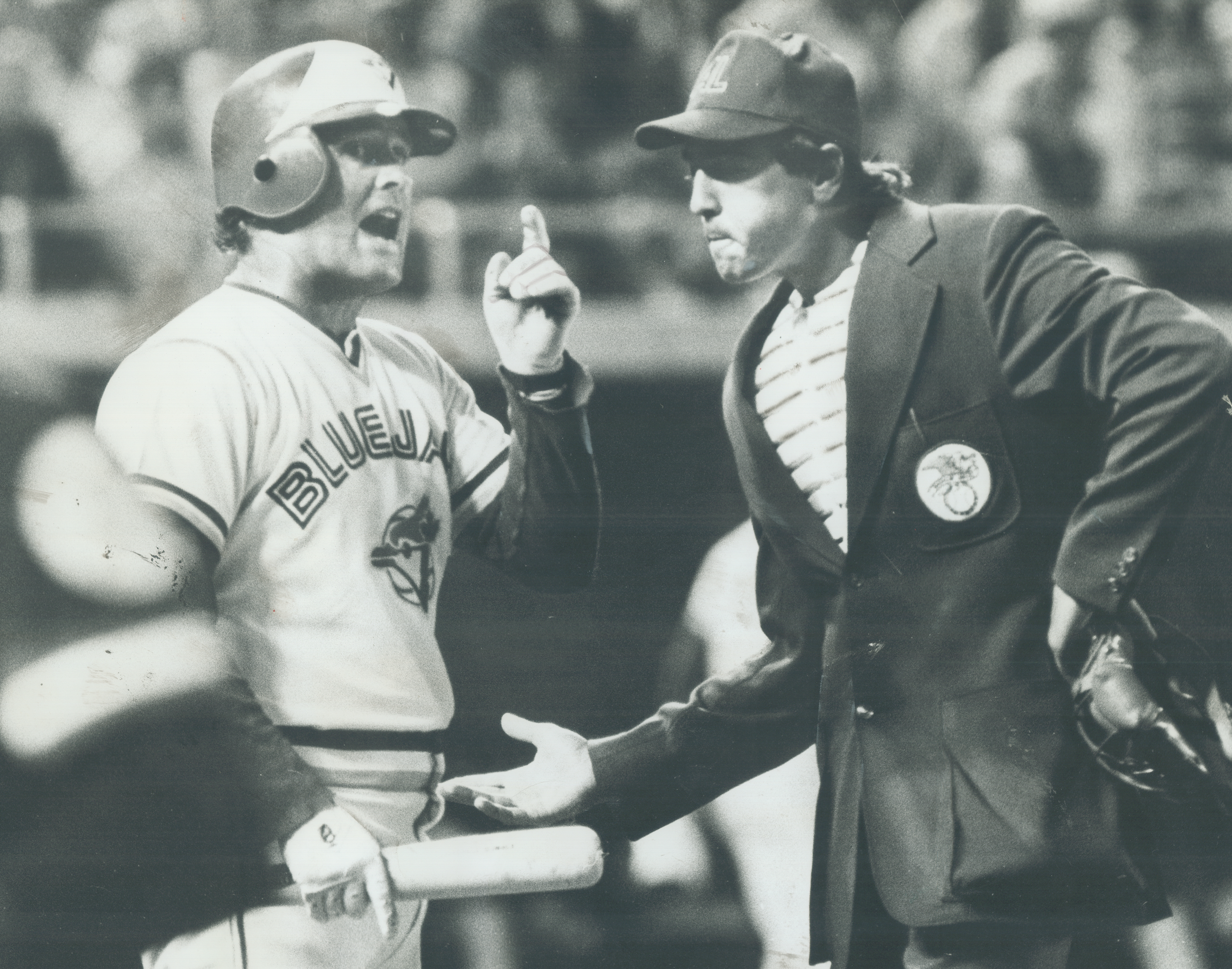 And Furthermore: Jays' Ron Fairly has a few words to say to home plate umpire Steve Palermo after be