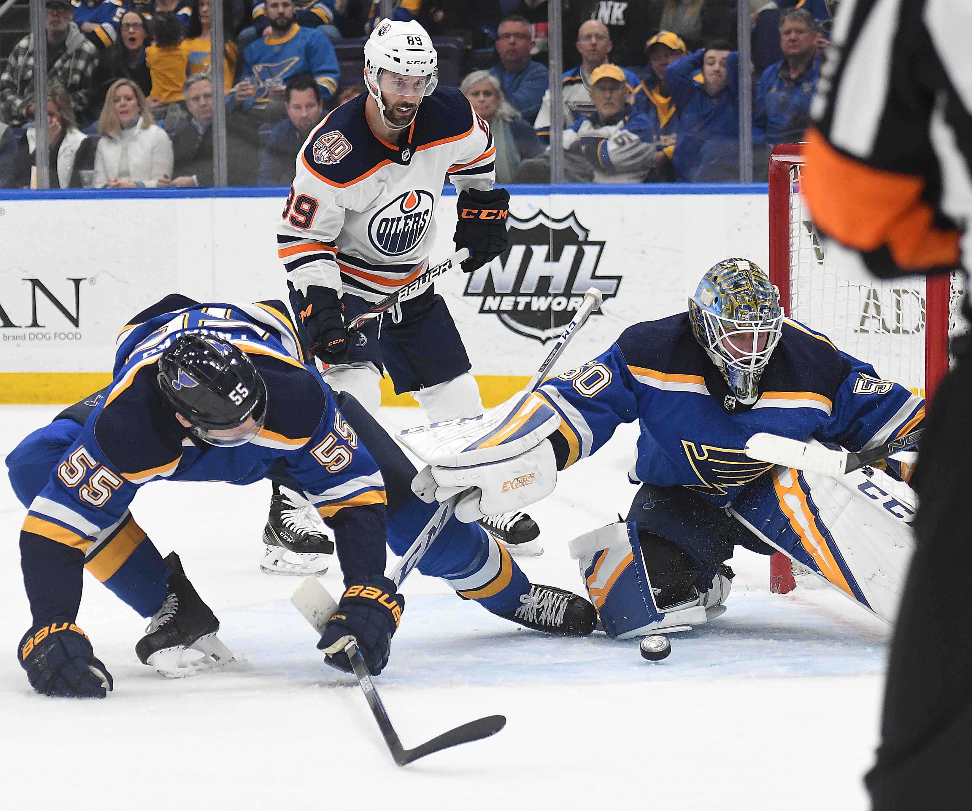 NHL: MAR 19 NHL Oilers at Blues