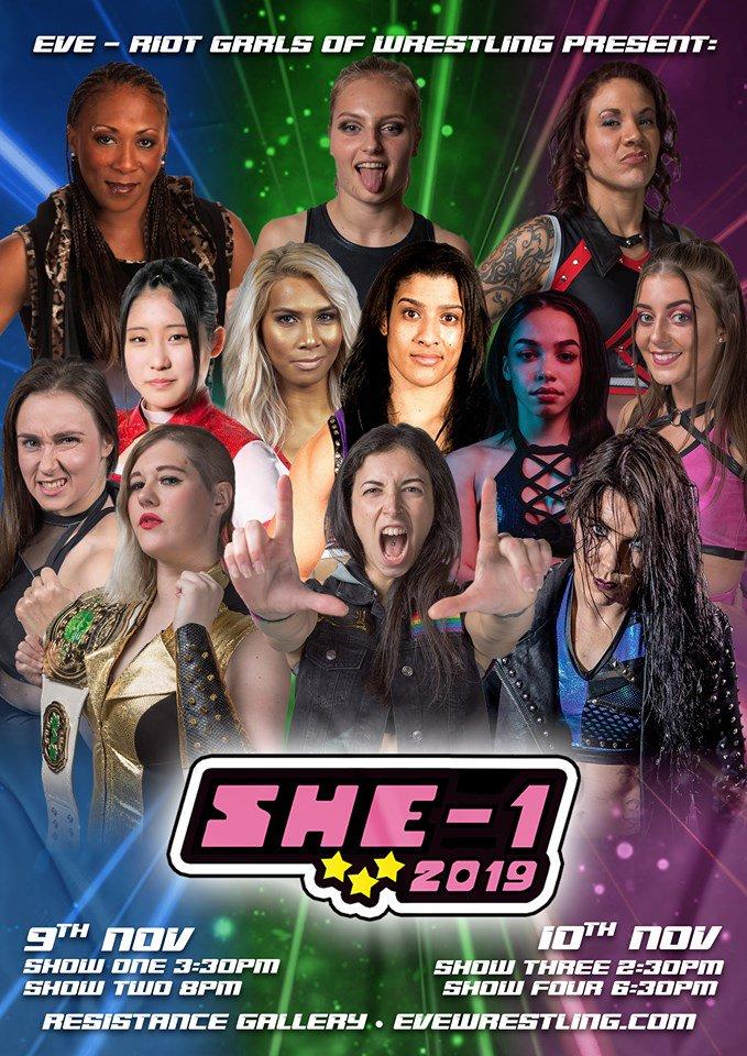 Poster for Pro Wrestling: EVE SHE-1 Series