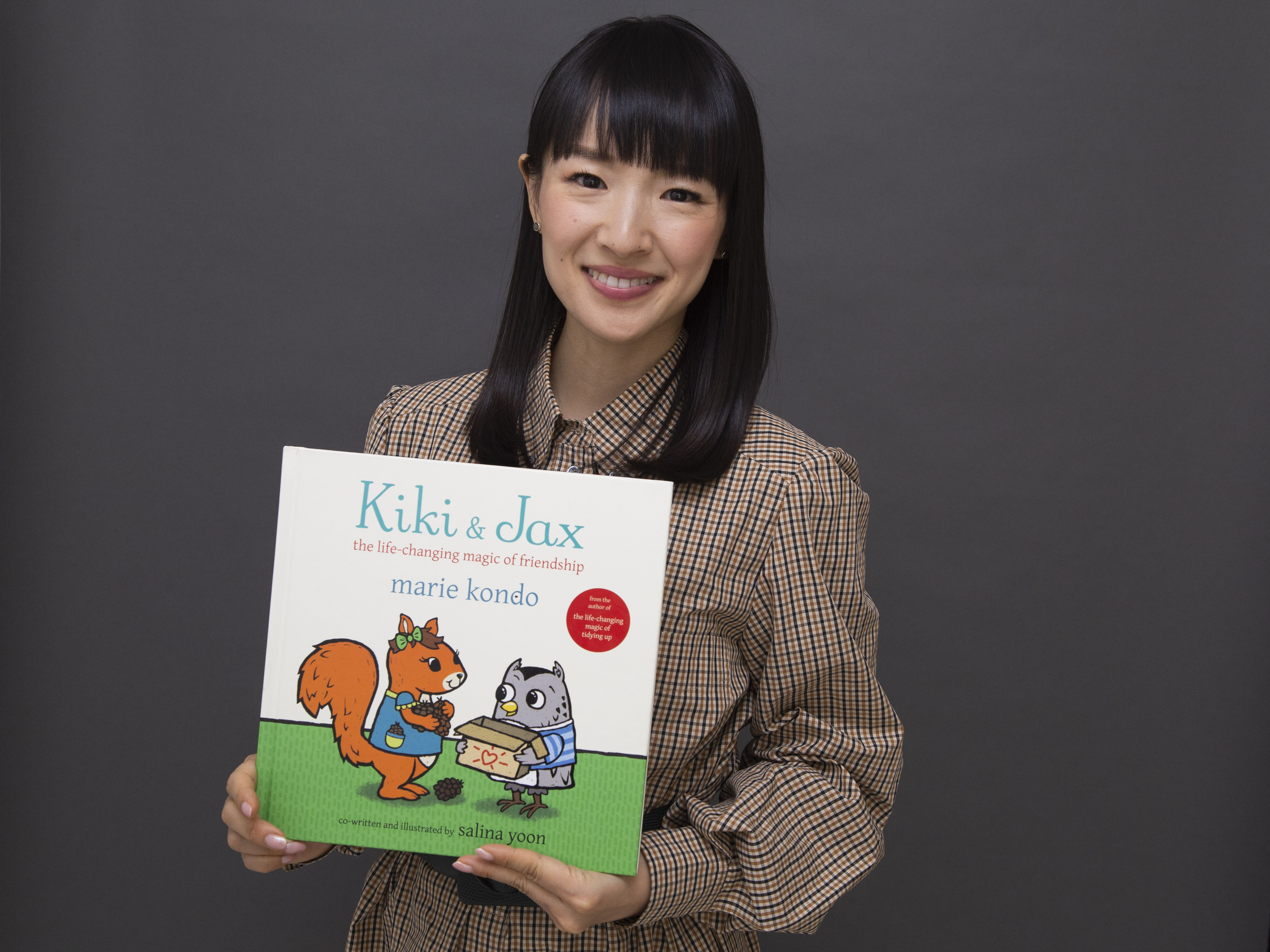 "Author and television personality Marie Kondo poses for a portrait to promote her children's book ""Kiki & Jax: The Life-Changing Magic of Friendship."""