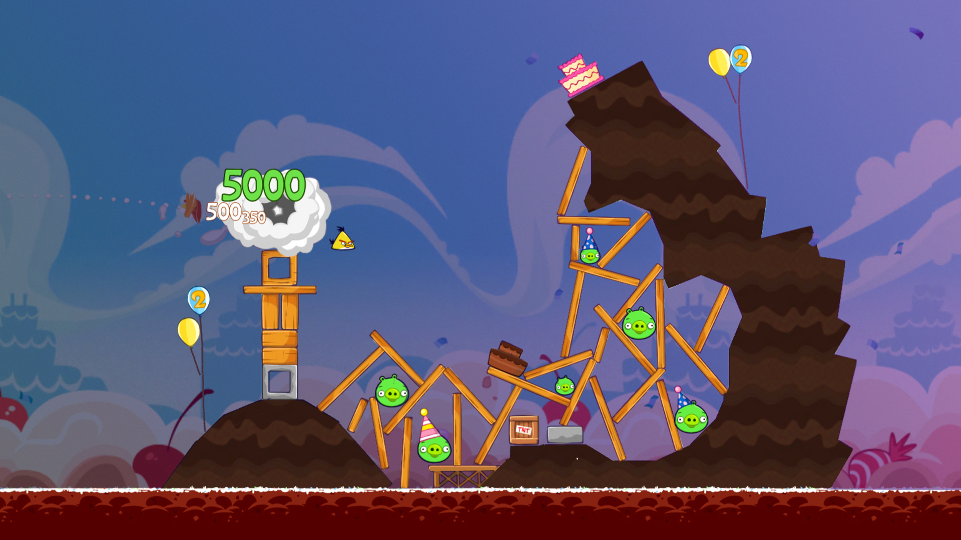 screen from Angry Birds video game
