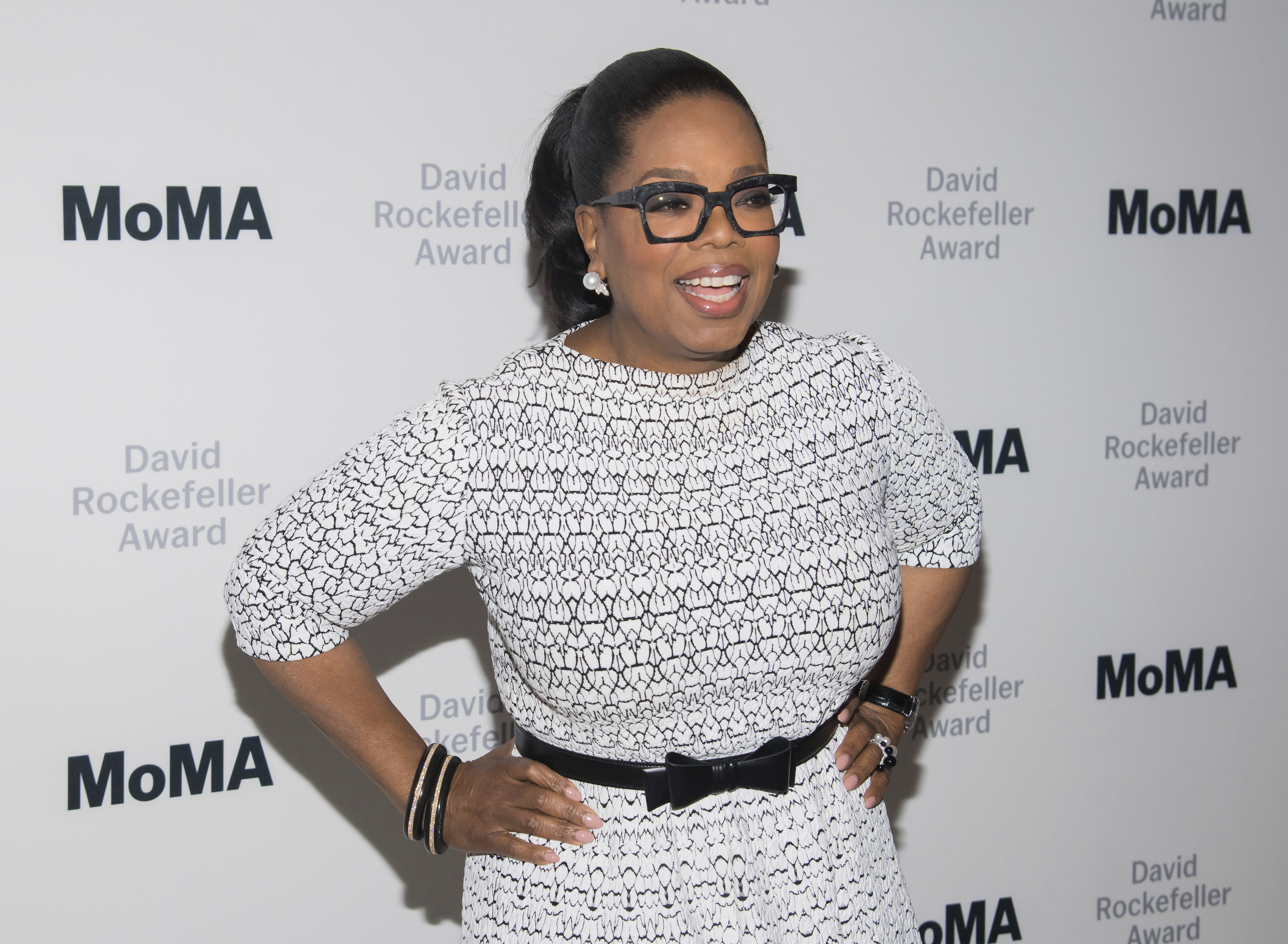 Oprah Winfrey attends The Museum of Modern Art's David Rockefeller Award Luncheon honoring her at the Ziegfeld Ballroom in New York in 2018.