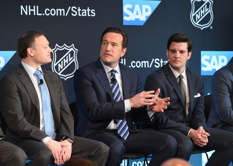 NHL Press Conference Unveiling New Statistics Platform