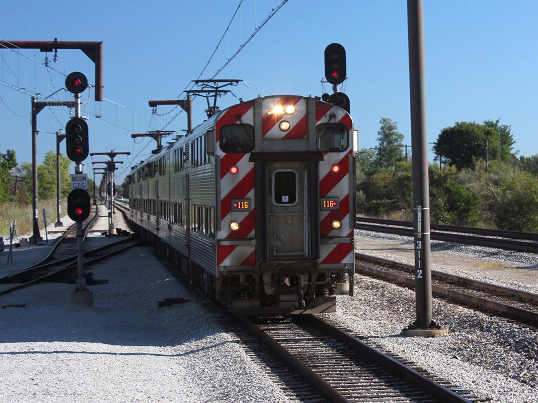 A Metra Electric train at University Park.