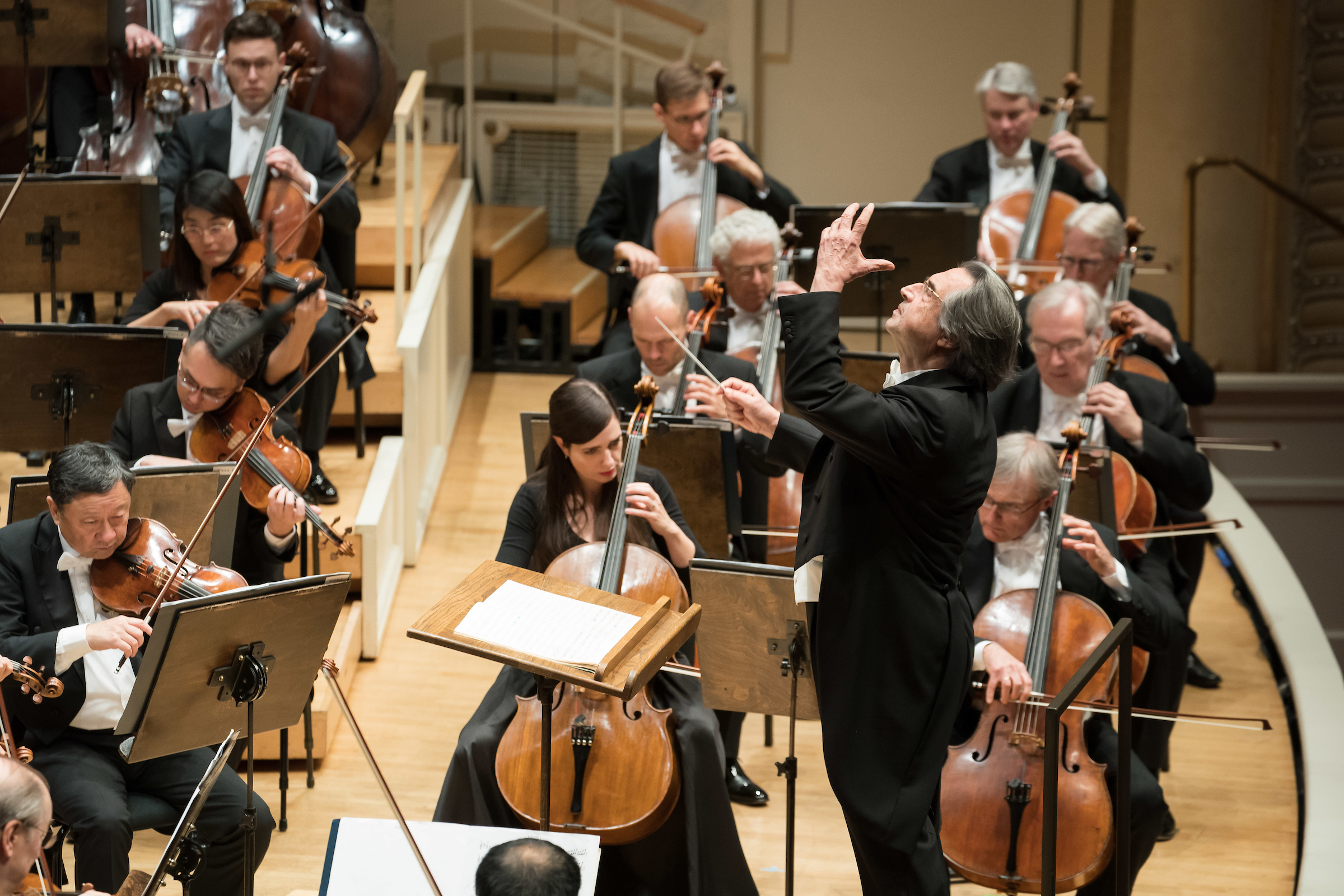 Maestro Riccardo Muti conducts the Chicago Symphony Orchestra on Thursday night at Orchestra Hall.