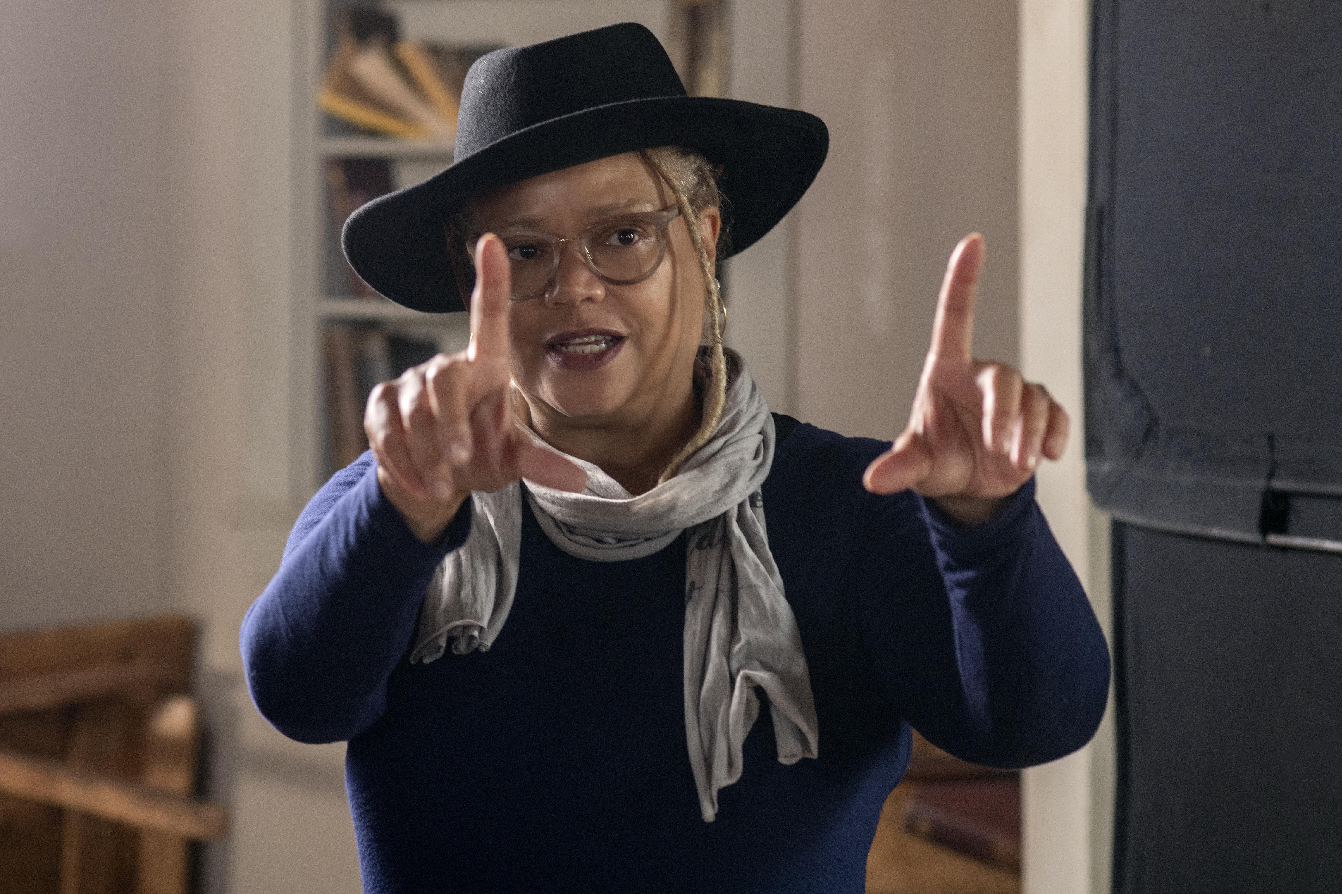 "Director Kasi Lemmons on the set of ""Harriet."""