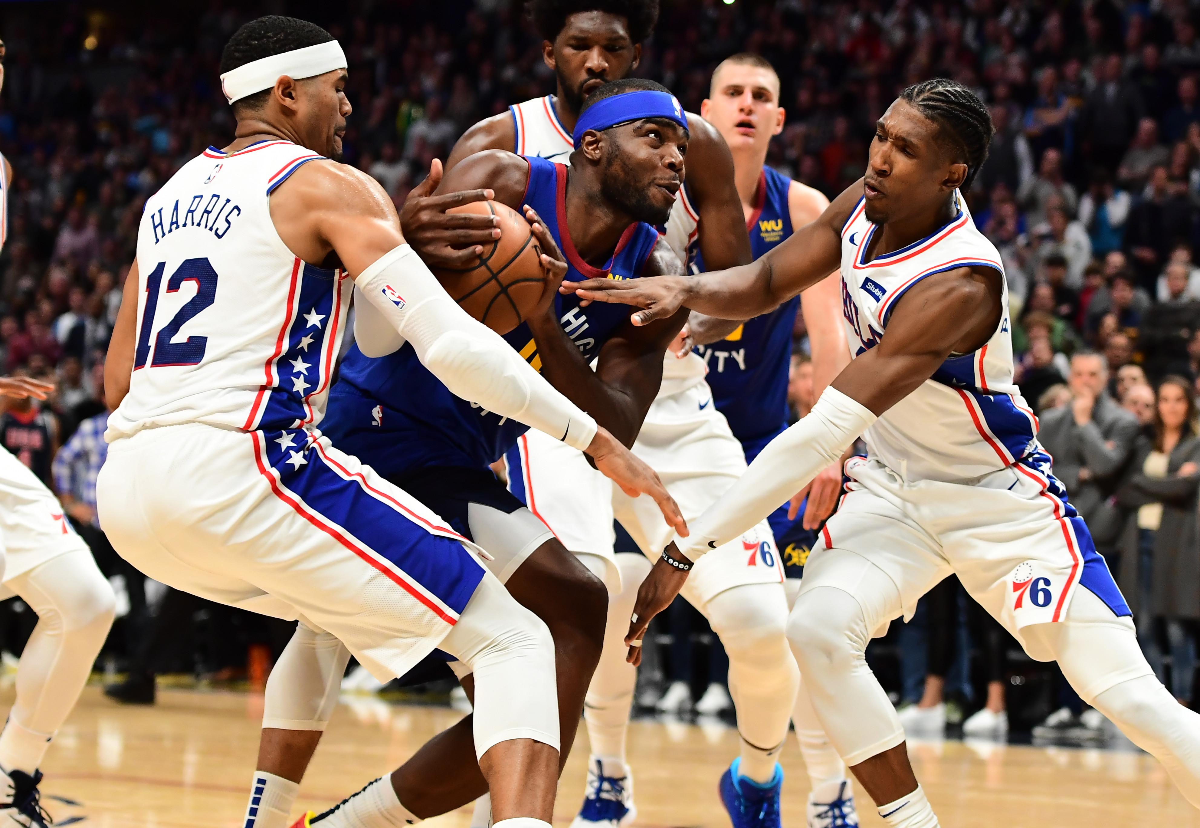 NBA: Philadelphia 76ers at Denver Nuggets