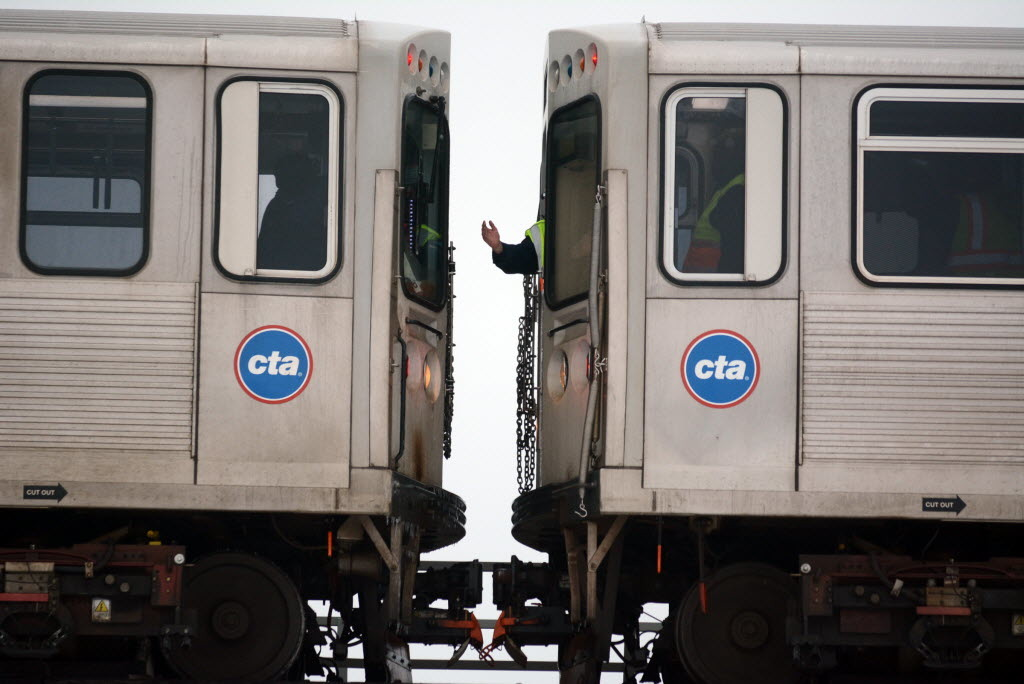 Southbound Red Line trains were diverted to elevated tracks Nov. 10, 2019.