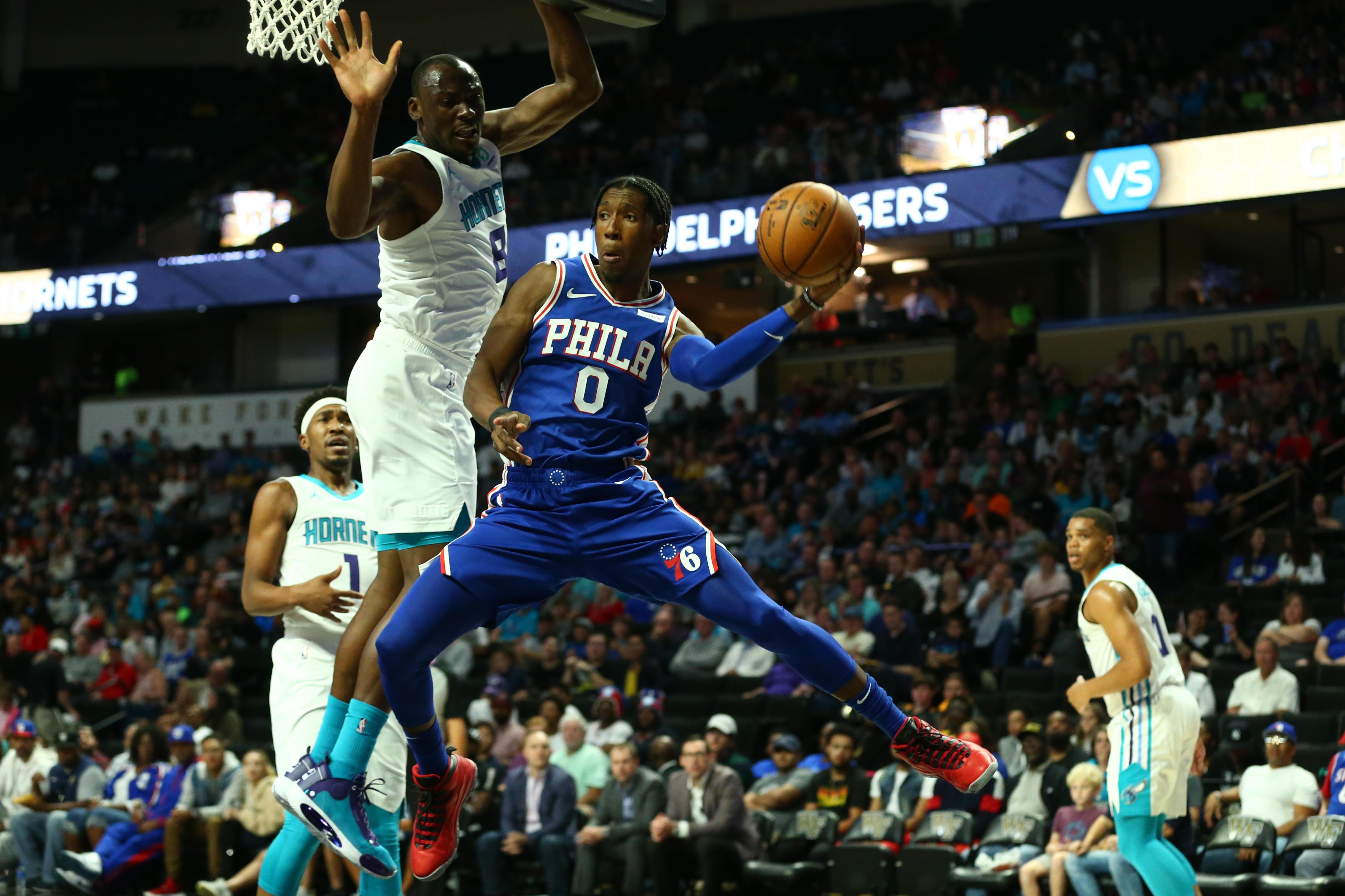 NBA: Preseason-Philadelphia 76ers at Charlotte Hornets
