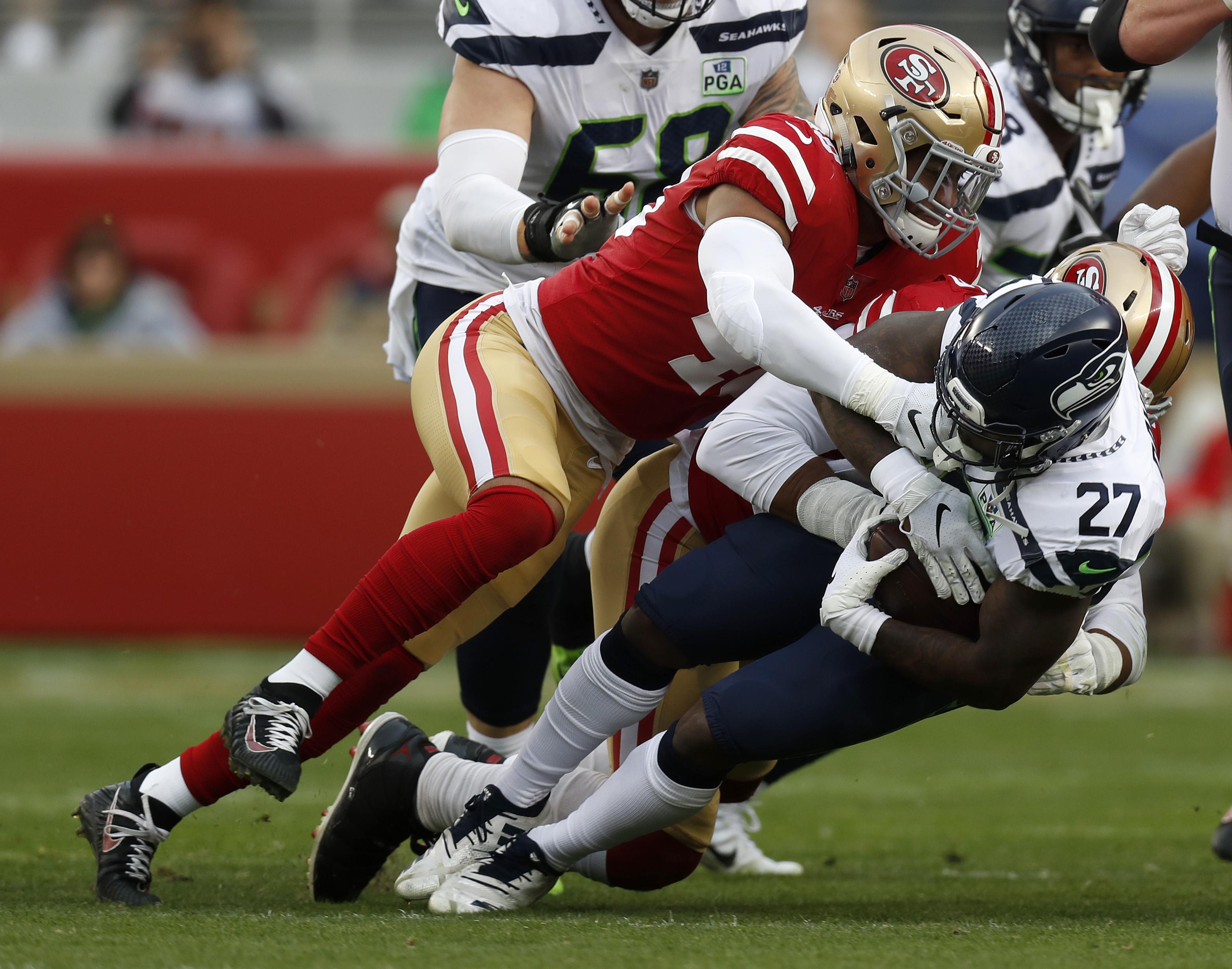San Francisco 49ers versus Seattle Seahawks