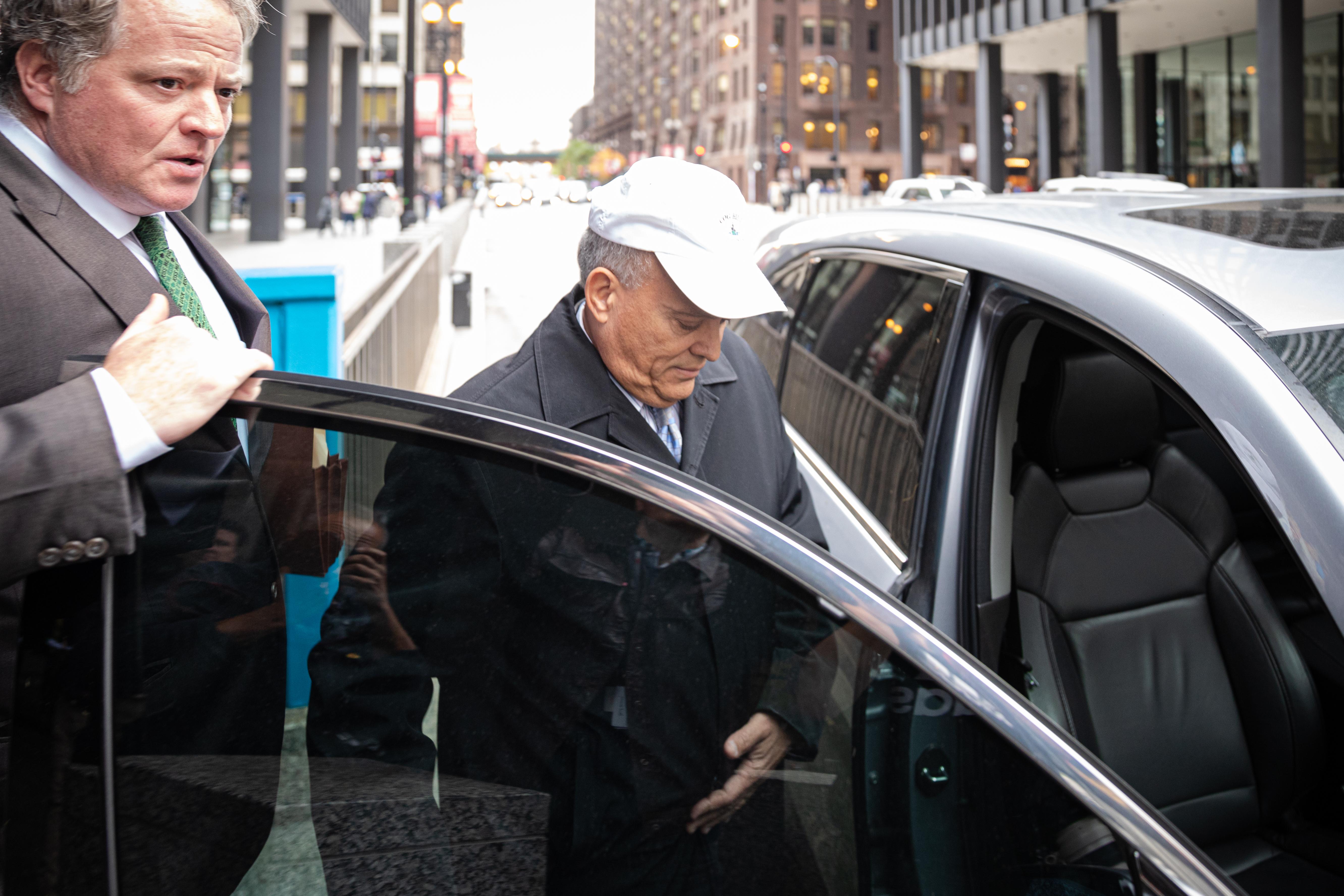 Luis Arroyo leaving the Dirksen Federal Building Oct. 28.