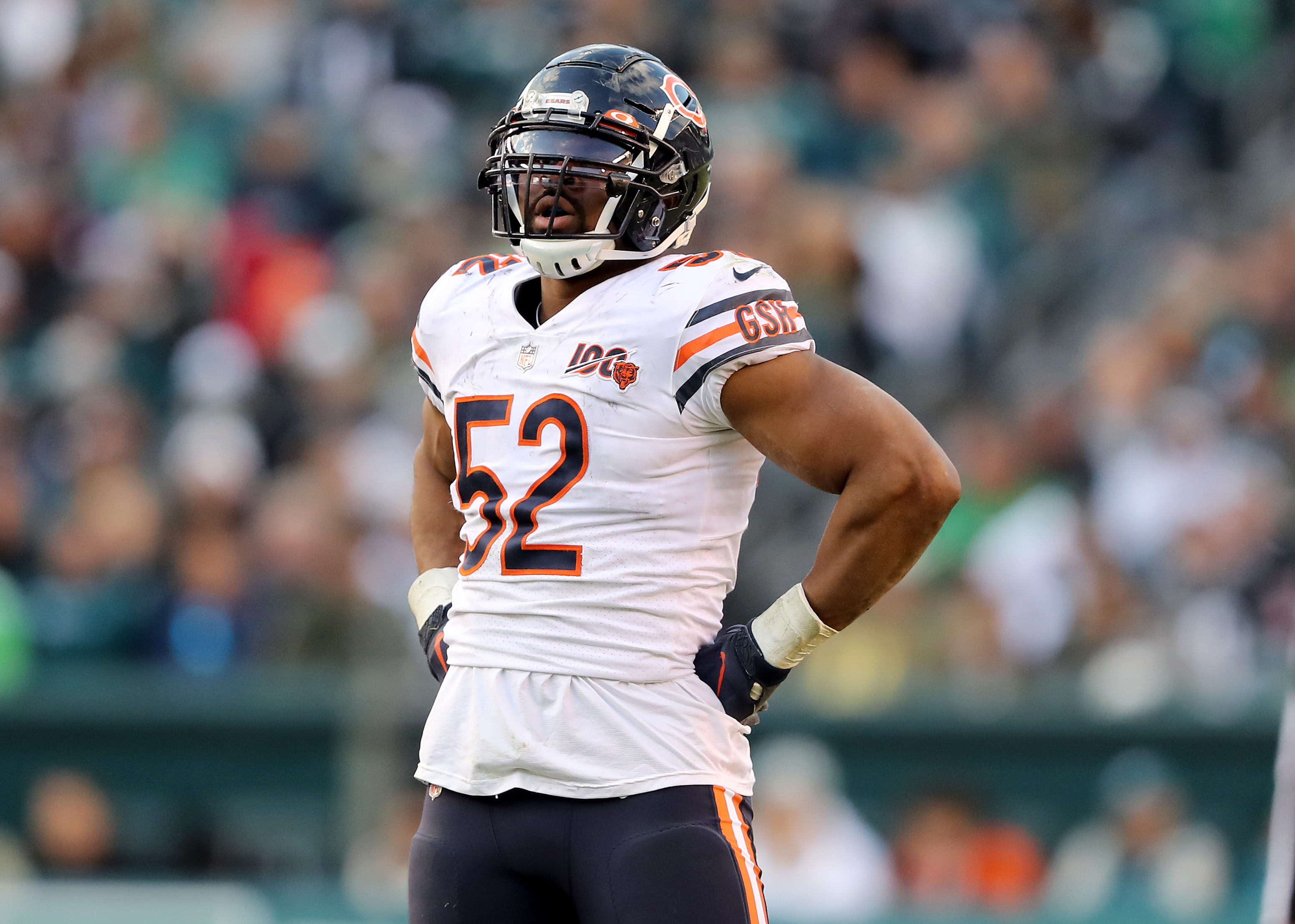Khalil Mack hasn't been nearly the force this season that he was in 2018. The Bears linebacker has had a total of one sack in the past five games.