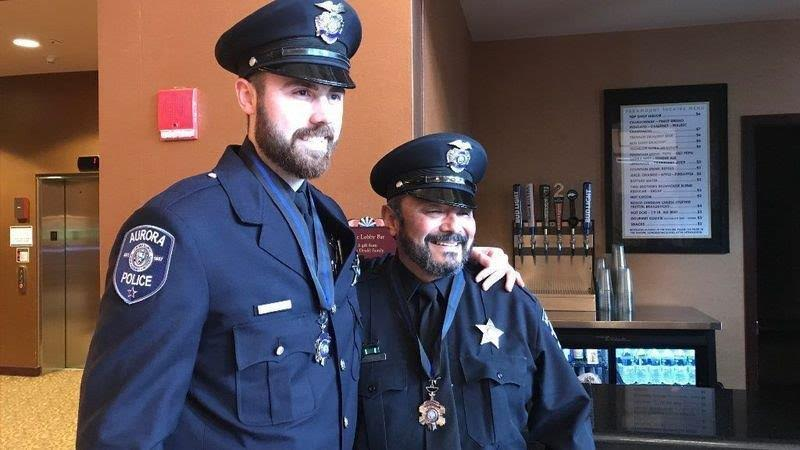 Officers Adam Miller (left) and Rey Rivera (right)