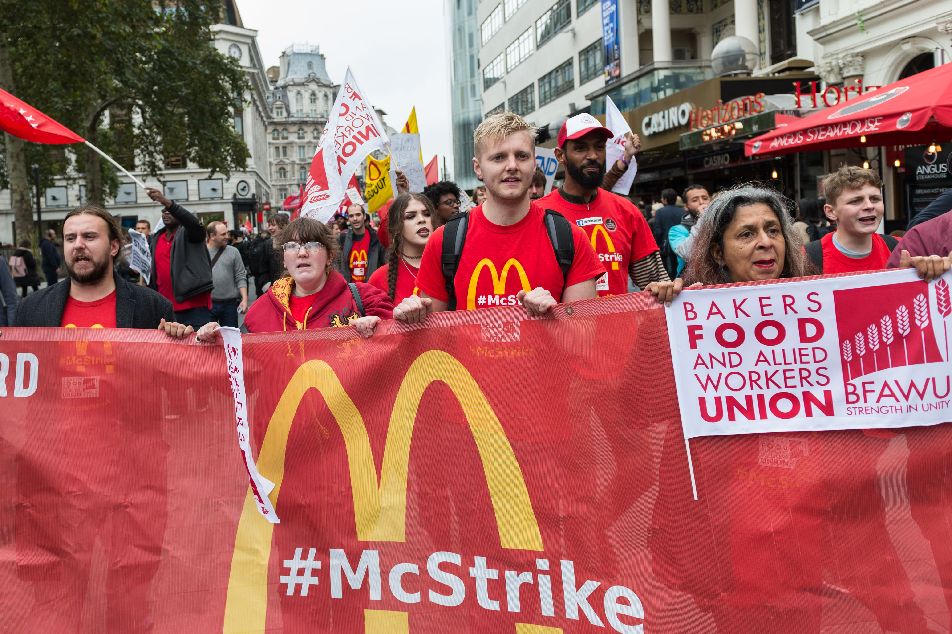 McDonald's workers go on strike over pay at fast food chain