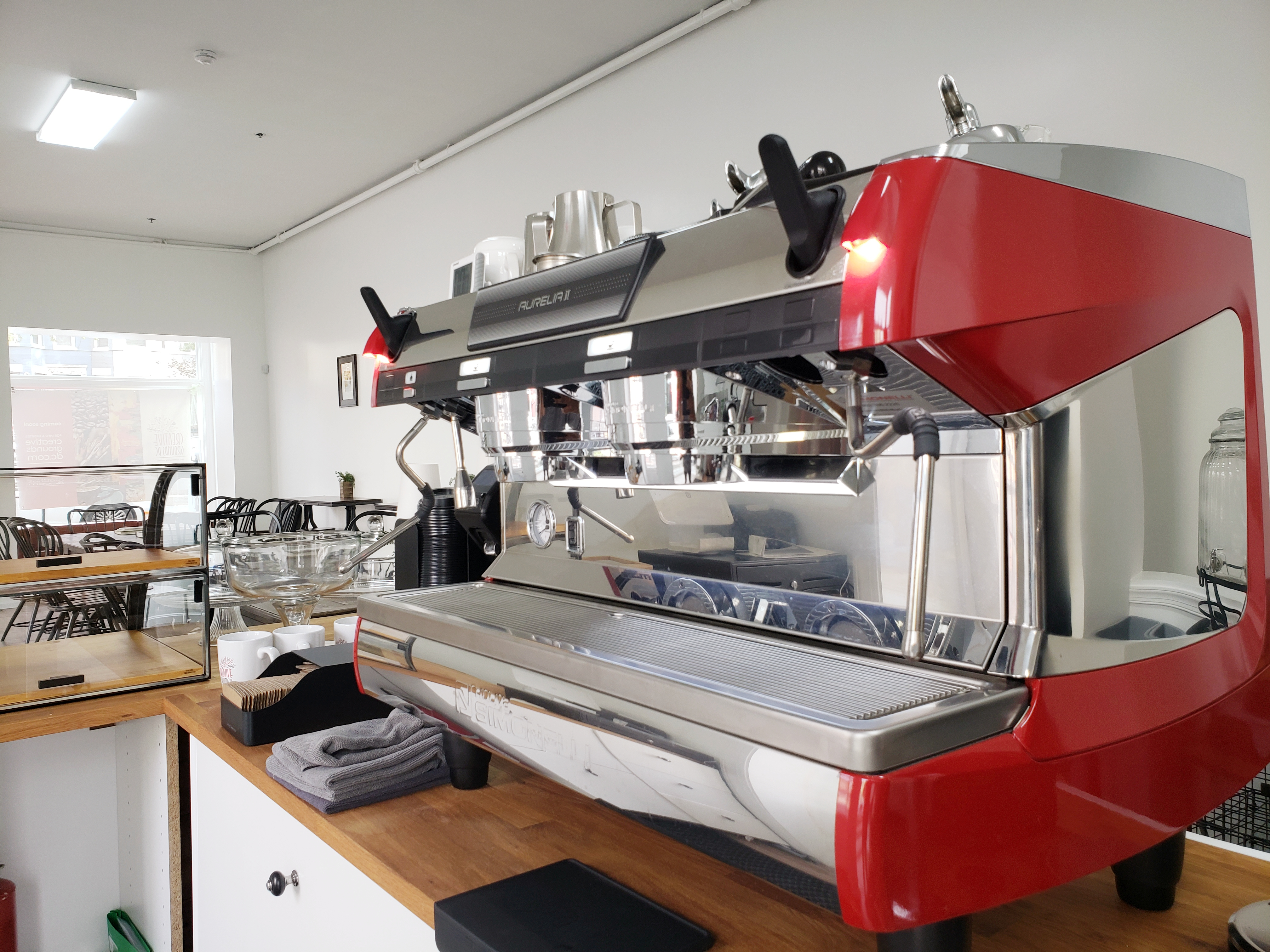 The espresso machine at Creative Grounds DC