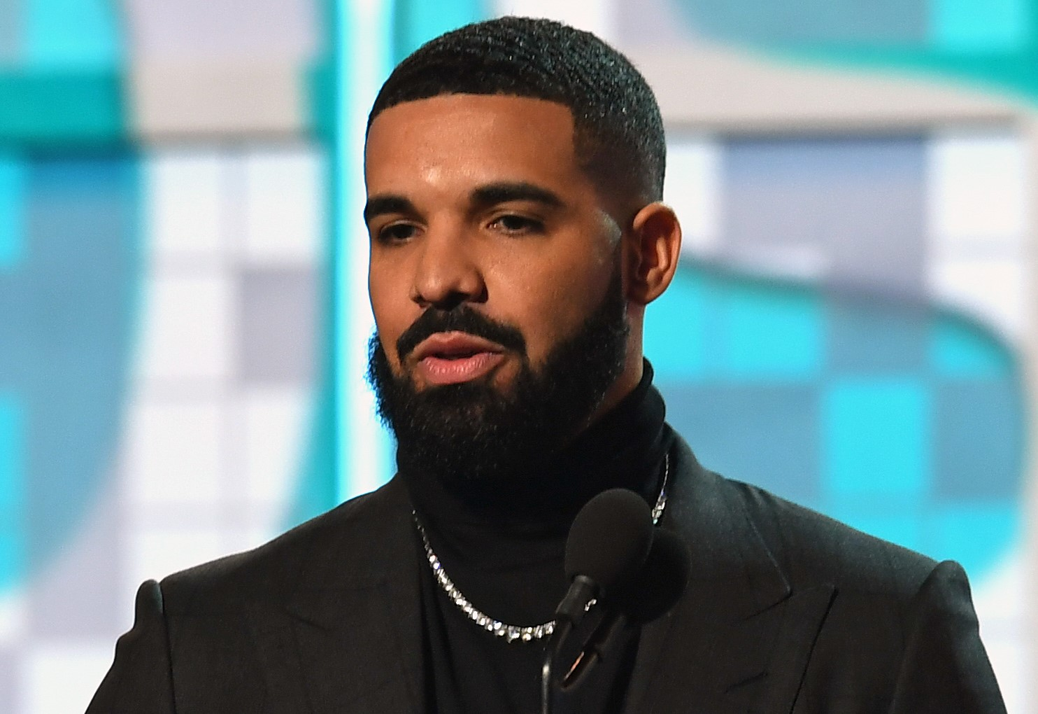"""Canadian rapper Drake accepts the award for Best Rap Song for """"God's Plan"""" during the 61st Annual Grammy Awards in February."""