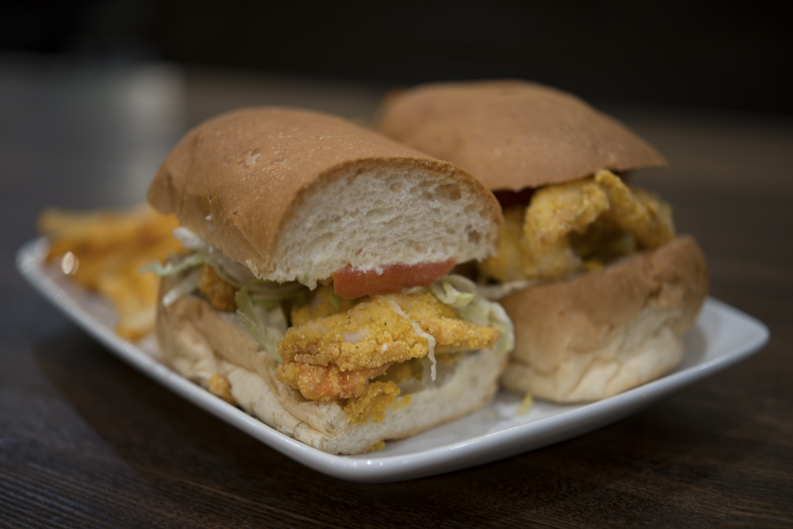 A po'boy sandwich from a Creole New Orleans restaurant in Los Angeles.