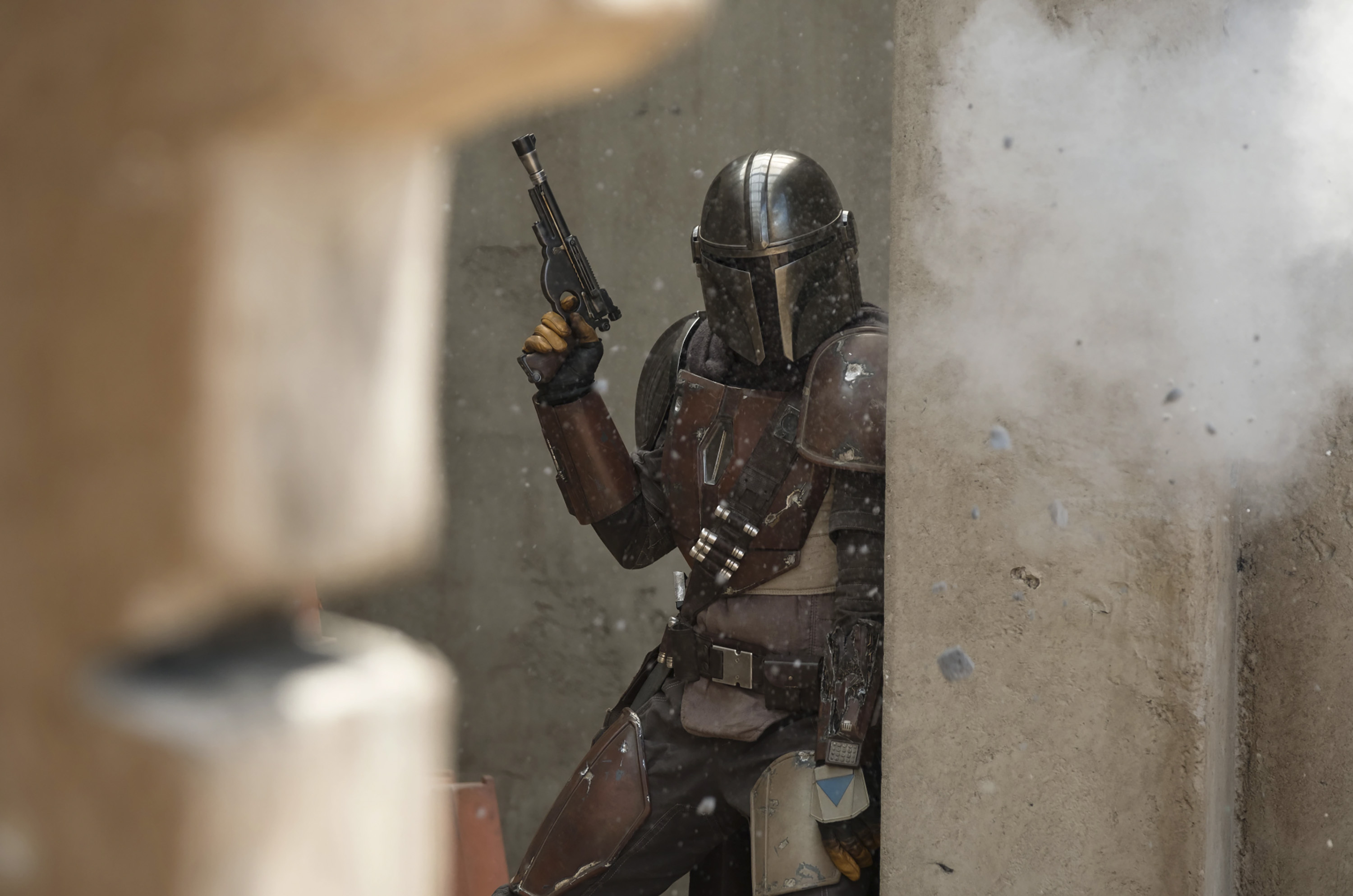 """Pedro Pascal in a scene from """"The Mandalorian."""""""