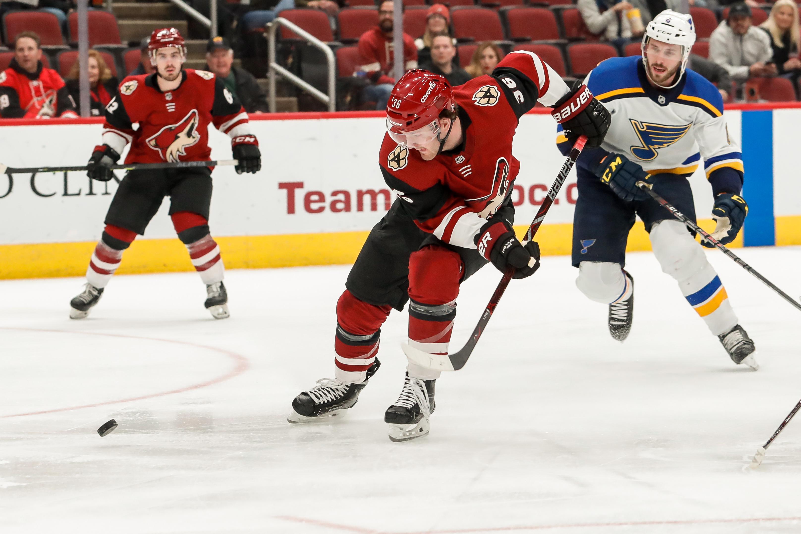 NHL: FEB 14 Blues at Coyotes