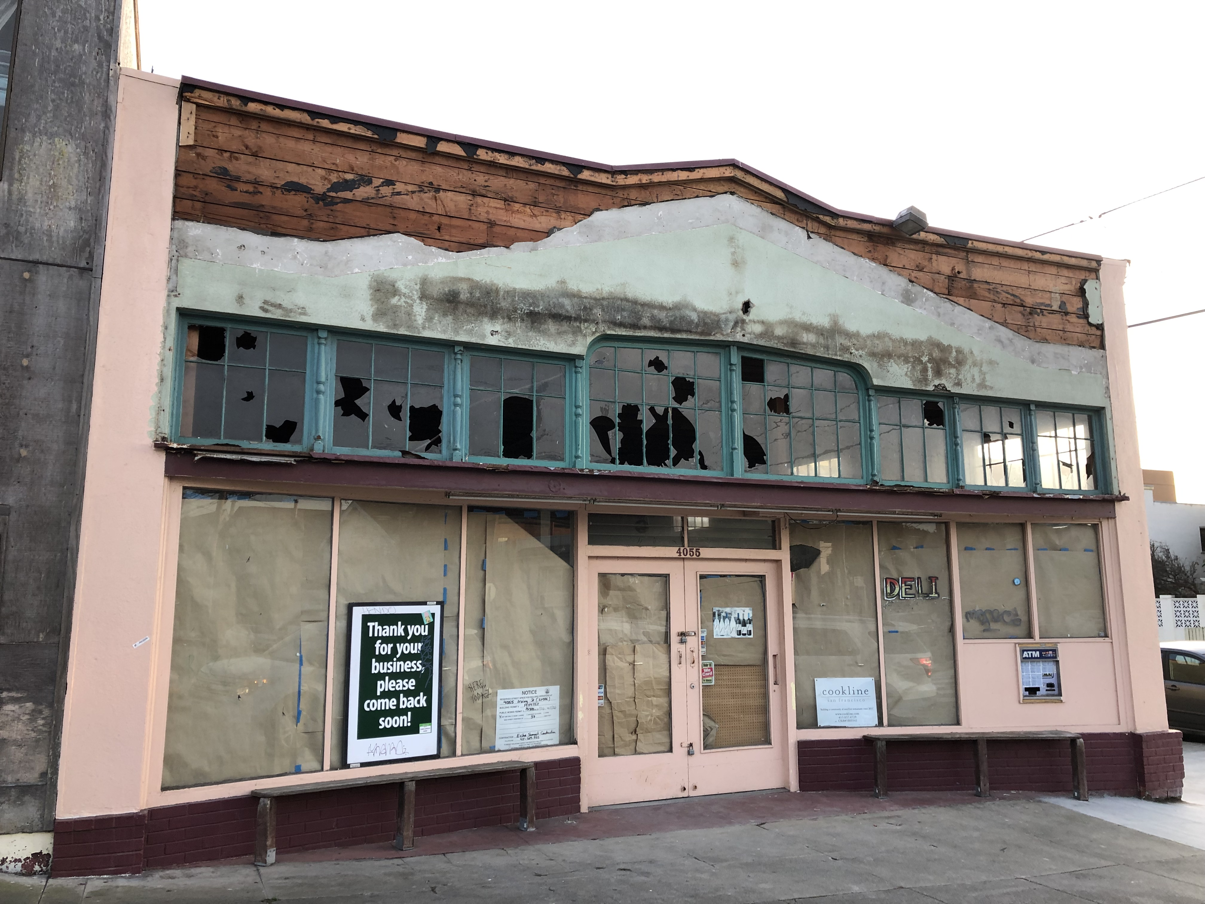 As the city has demanded that construction cease at 4055 Irving Street, this is what remains.