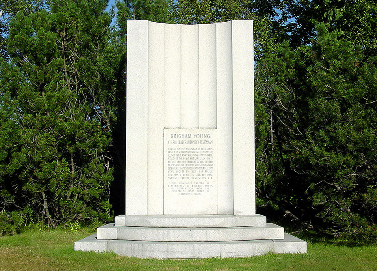 Monument honoring Brigham Young, Whitingham, Vermont.