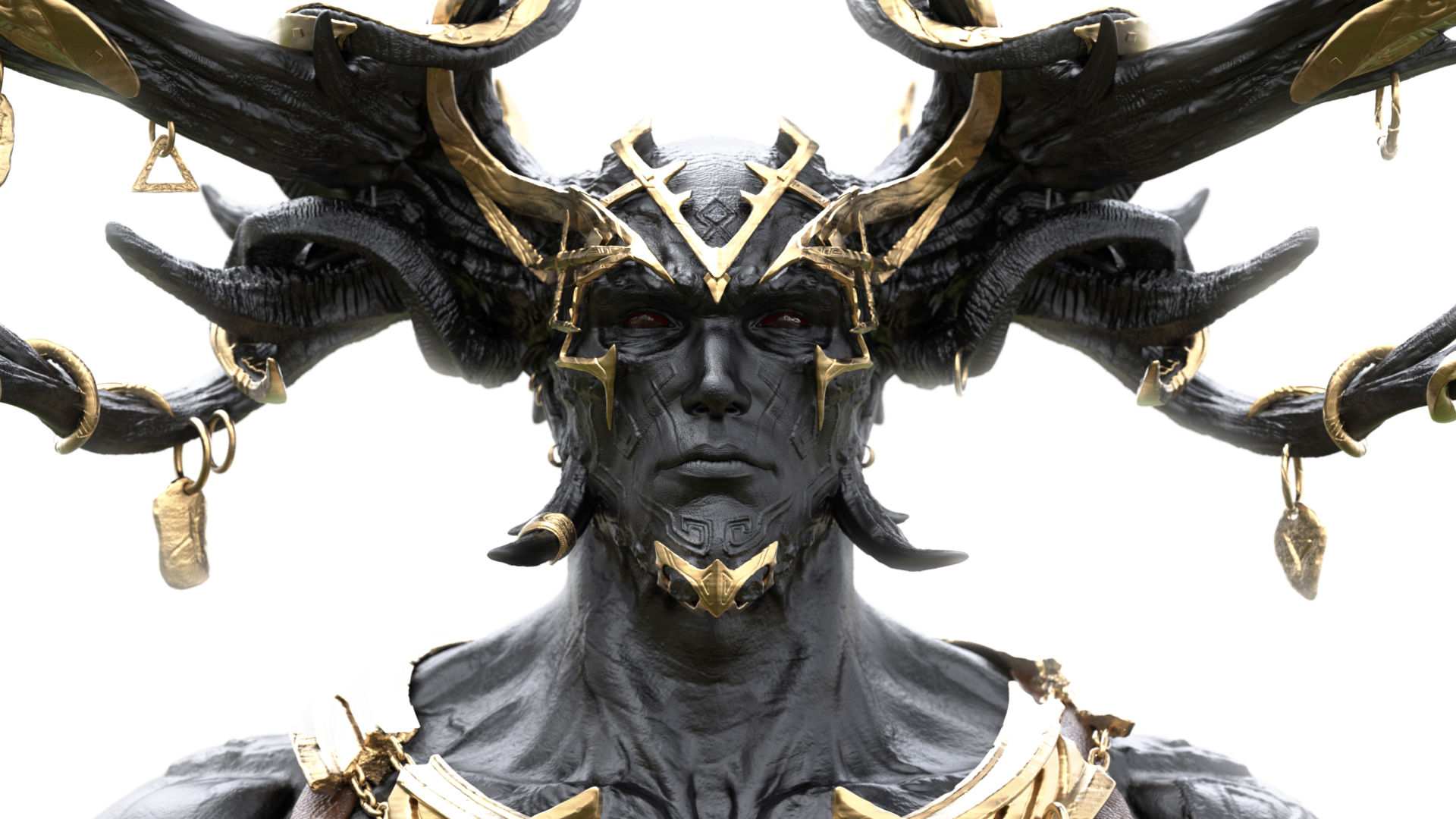 A screenshot of Loki's head and crown from the game Rune 2