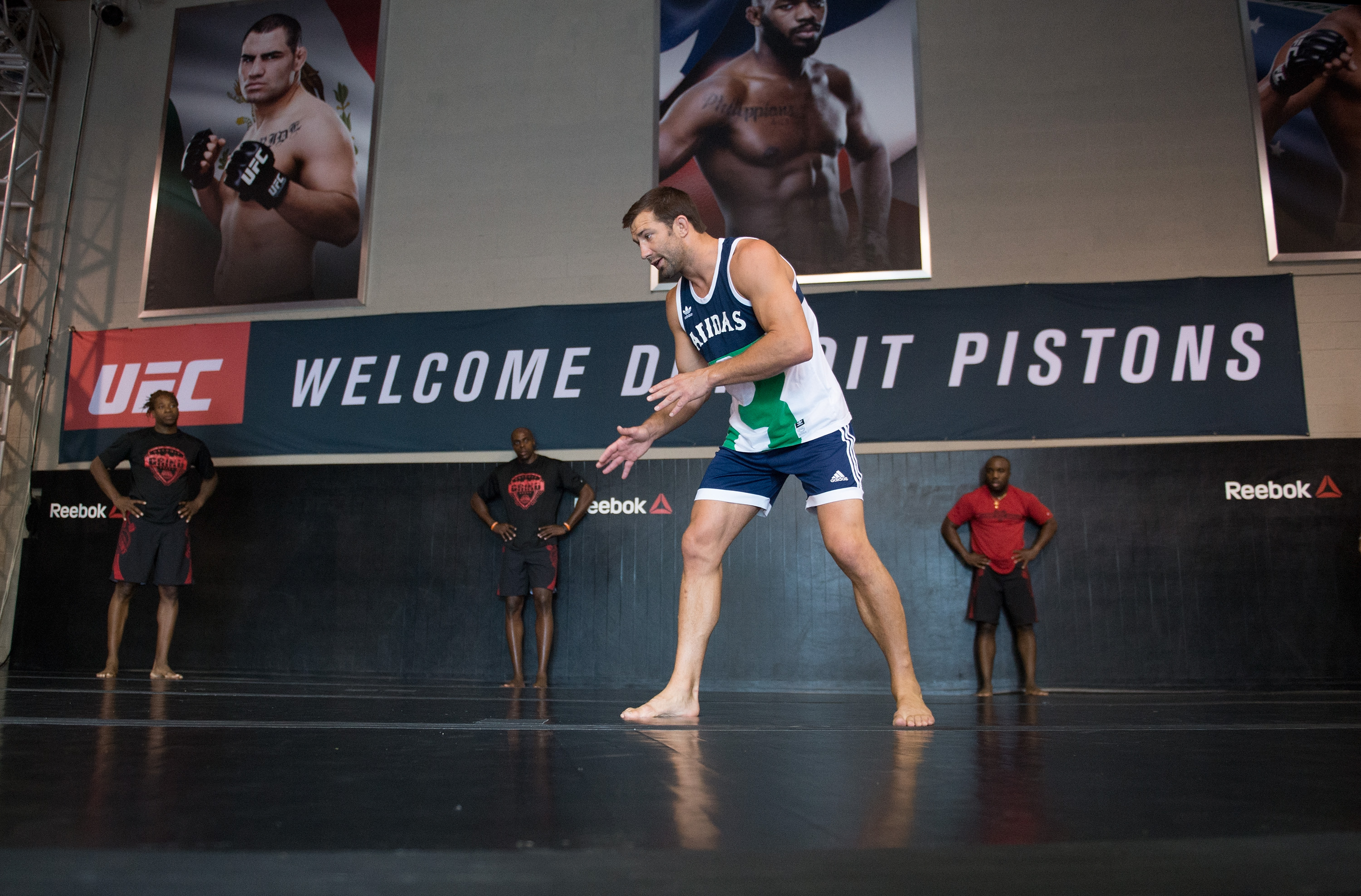 Detroit Pistons Train With Stars of the UFC