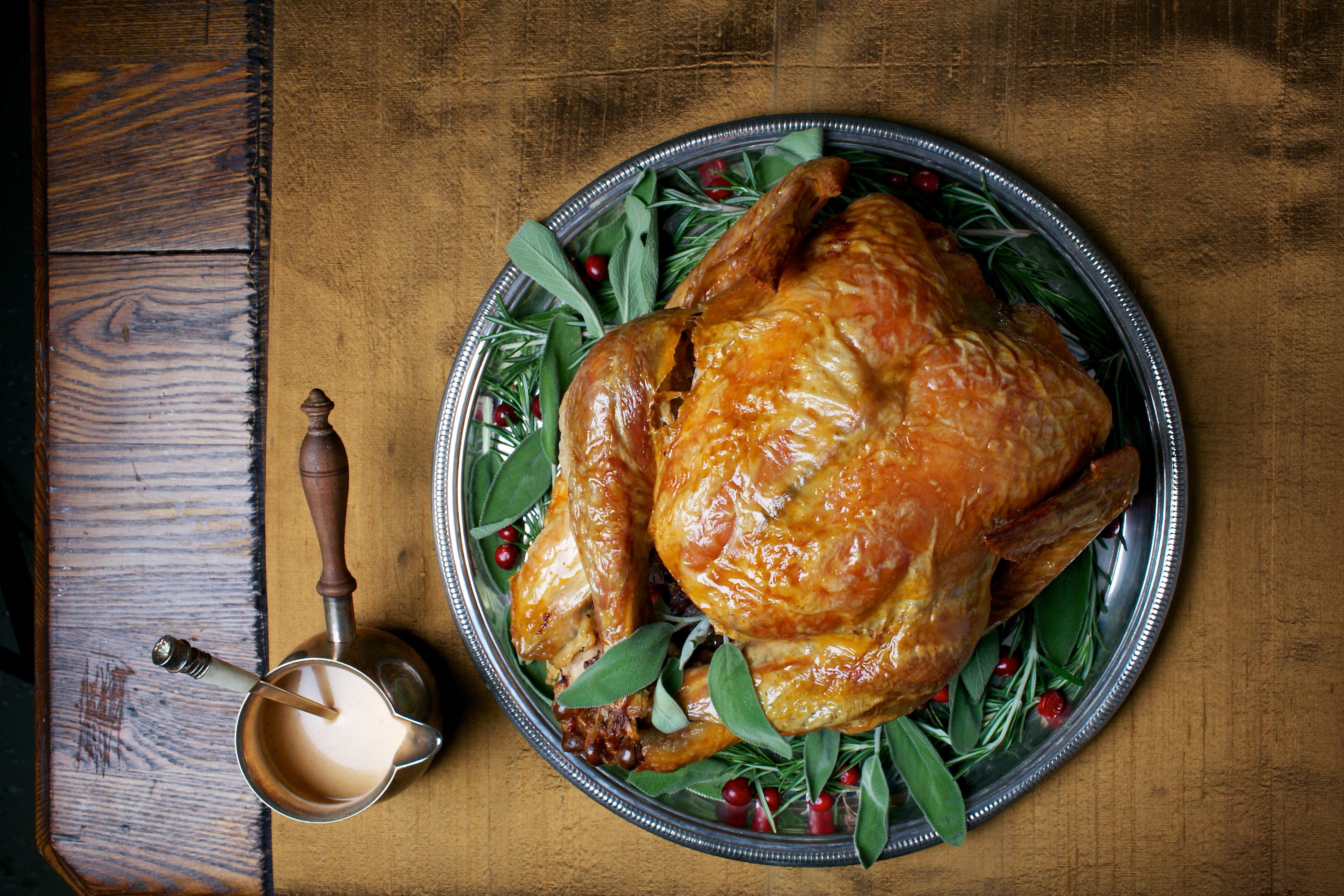 Simple Roast Turkey With Simplest Gravy