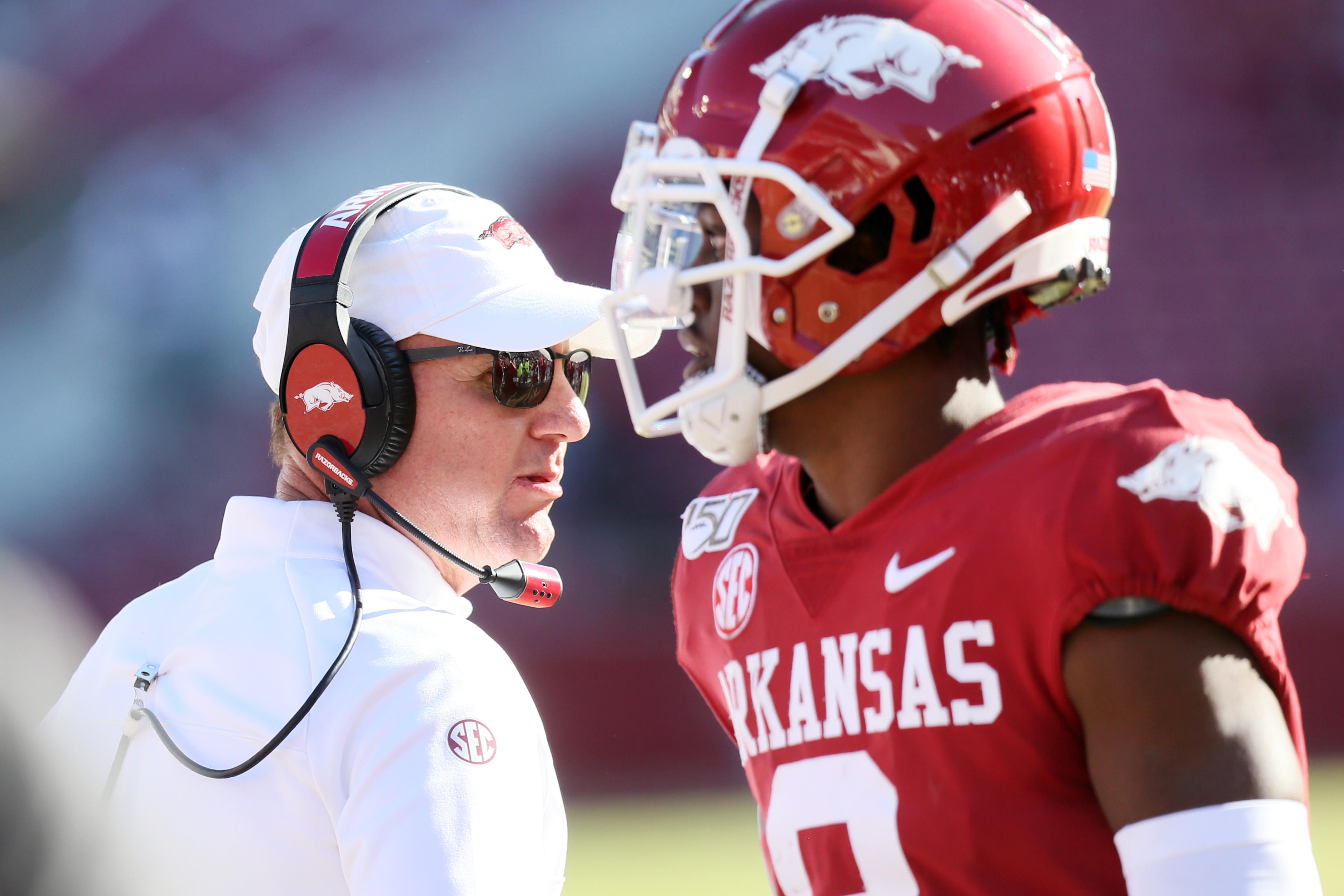 NCAA Football: Western Kentucky at Arkansas