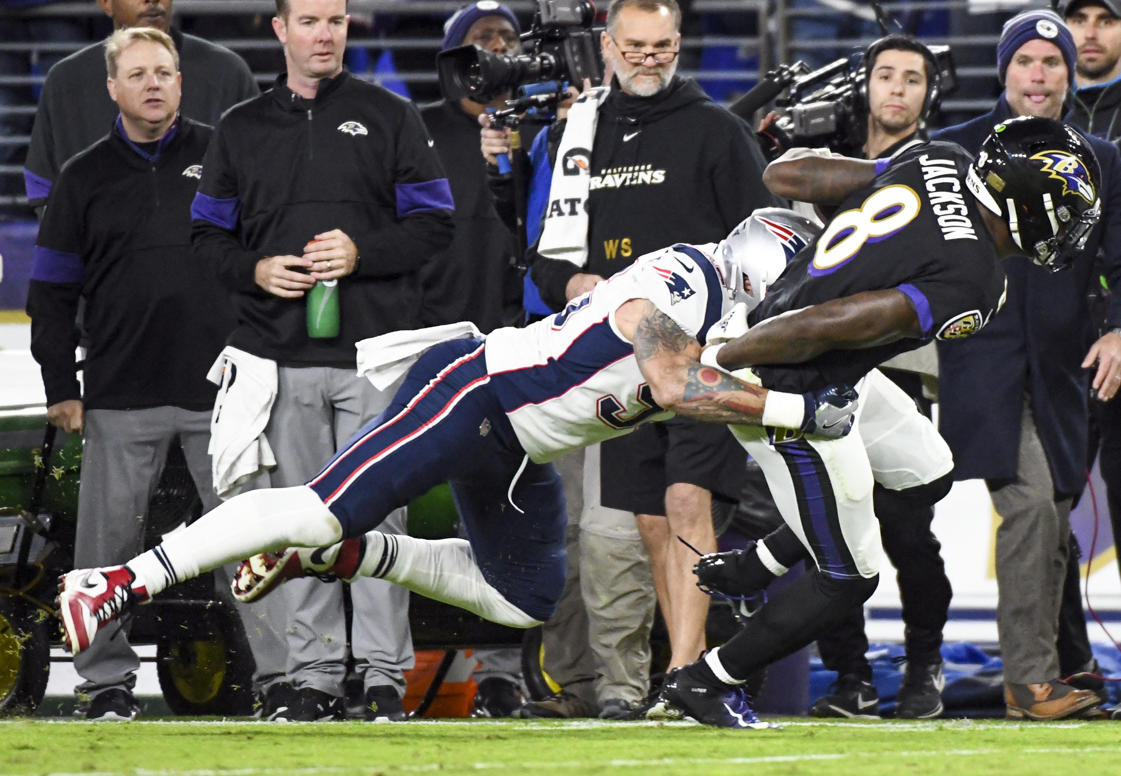 NFL: NOV 03 Patriots at Ravens