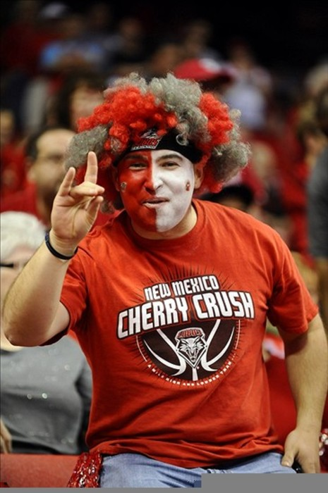 A fan of the New Mexico lobos