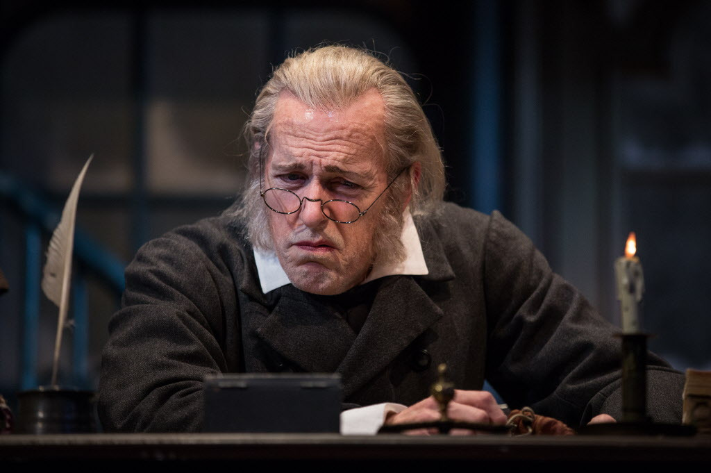 "Larry Yando as Ebenezer Scrooge in ""A Christmas Carol"" at the Goodman Theatre. 