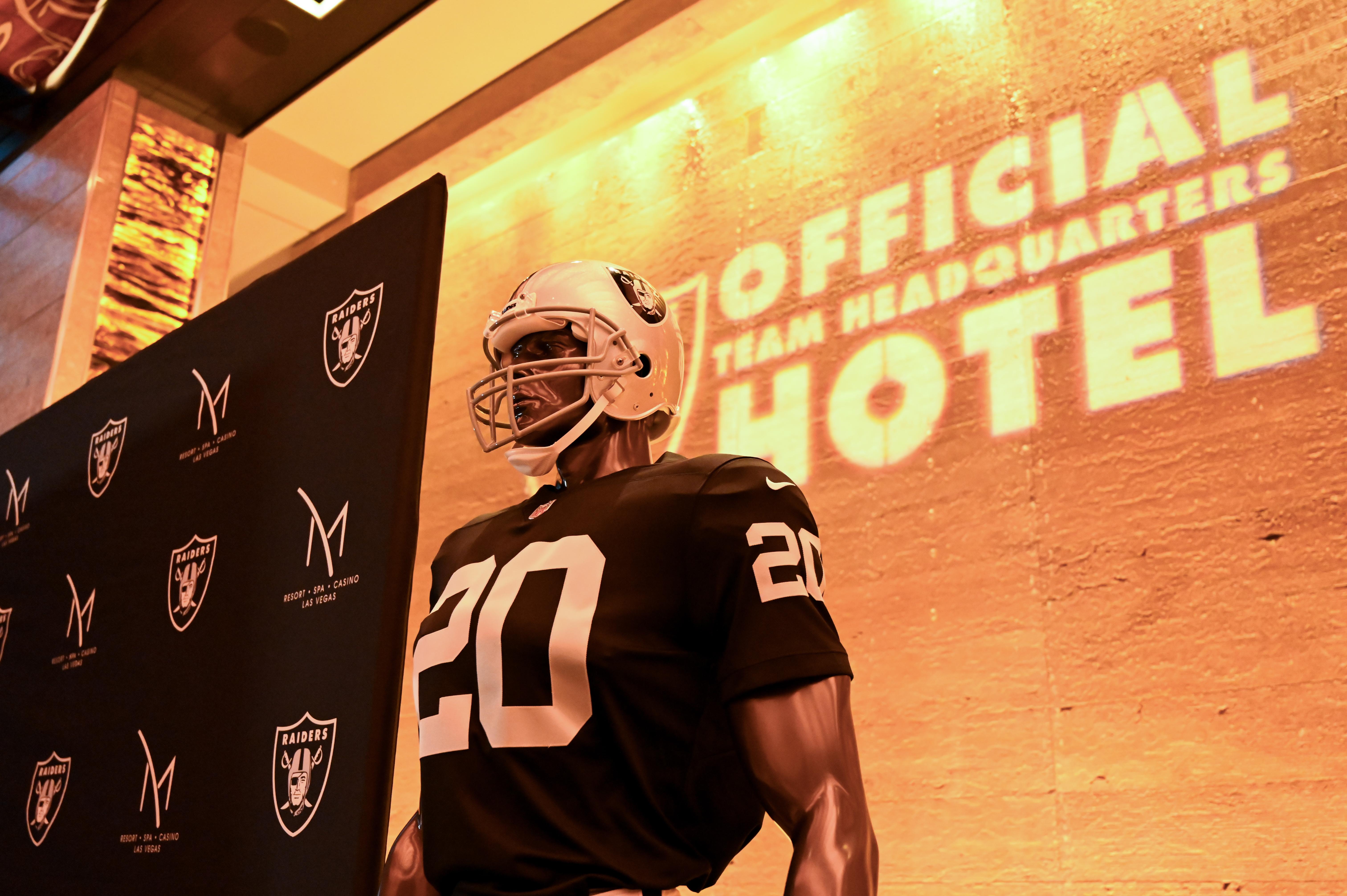 A Las Vegas Raiders uniform