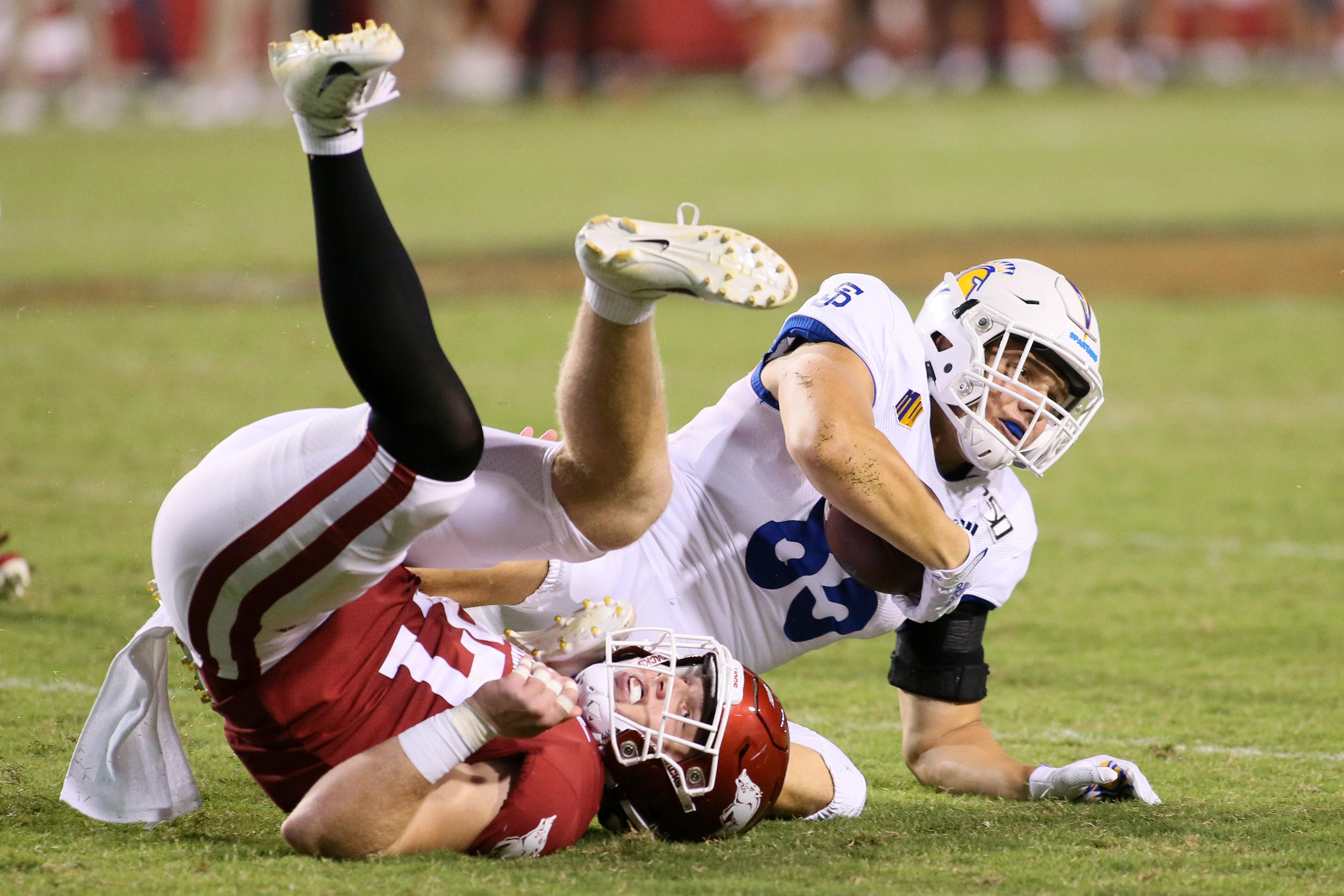 NCAA Football: San Jose State at Arkansas