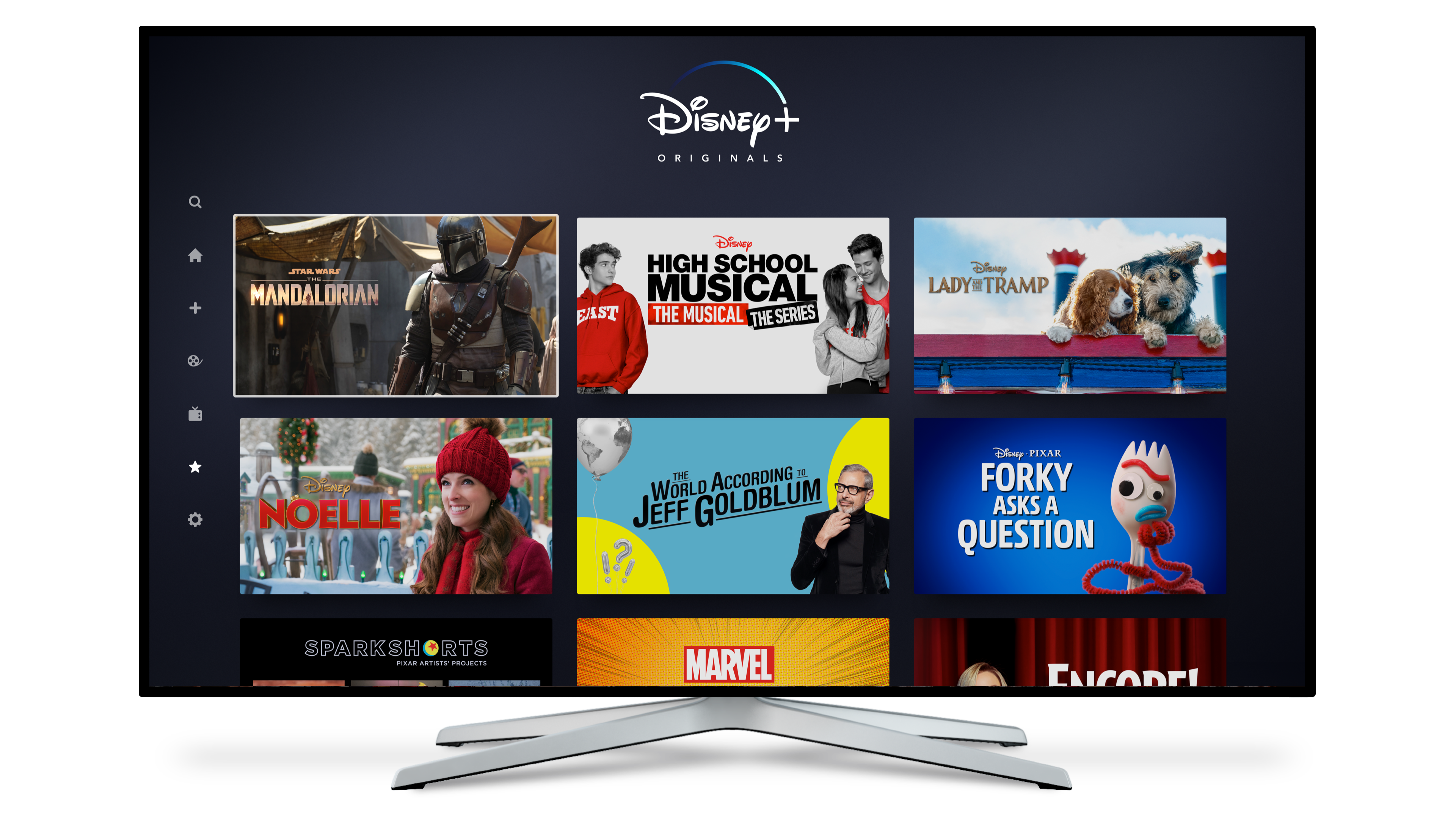 A look at the streaming menu for Disney Plus.