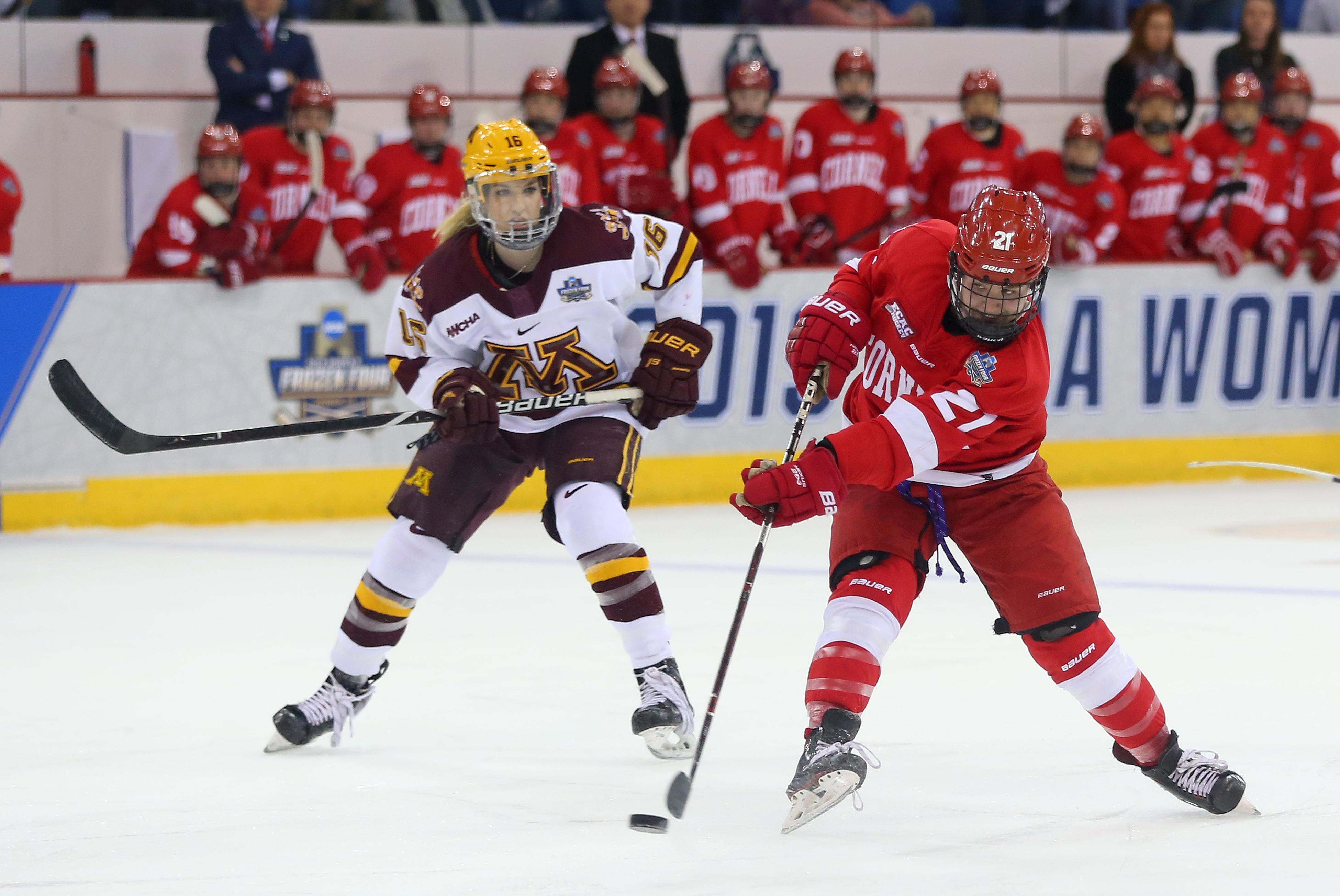 NCAA HOCKEY: MAR 22 Div I Women's Frozen Four - Cornell v Minnesota