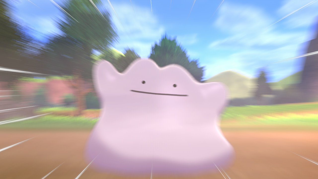 A dramatic photo of Ditto in Pokémon Sword and Shield
